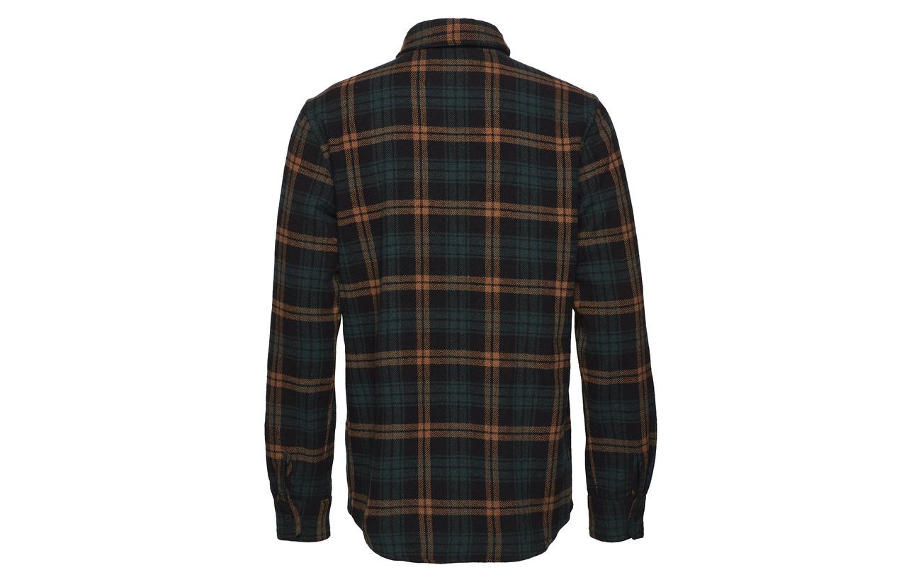 Chess Shirt Kjøbenhavn Green Pocket One Han 0RwH7A