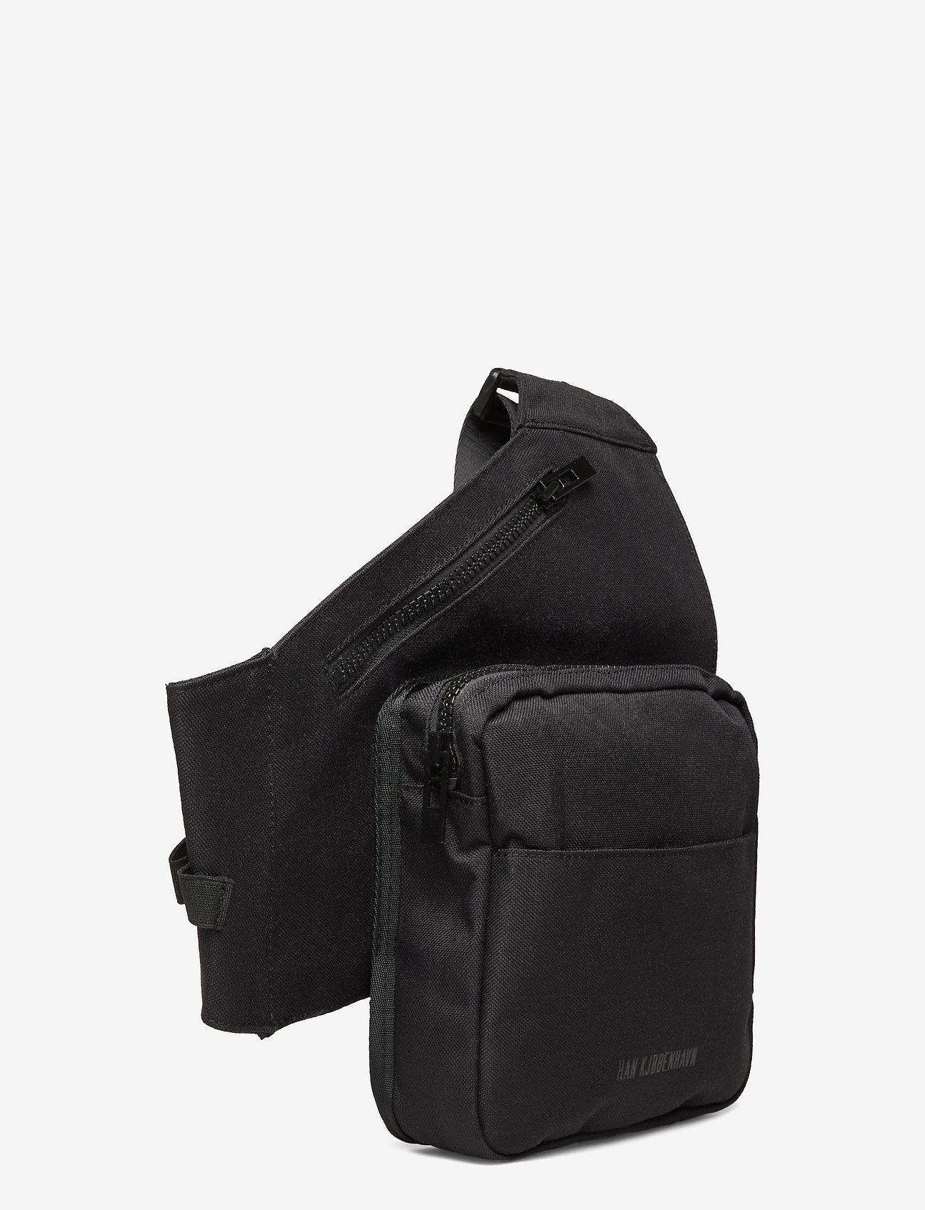 HAN Kjøbenhavn - Triangle Bag - heuptassen - black cordura nylon - 2