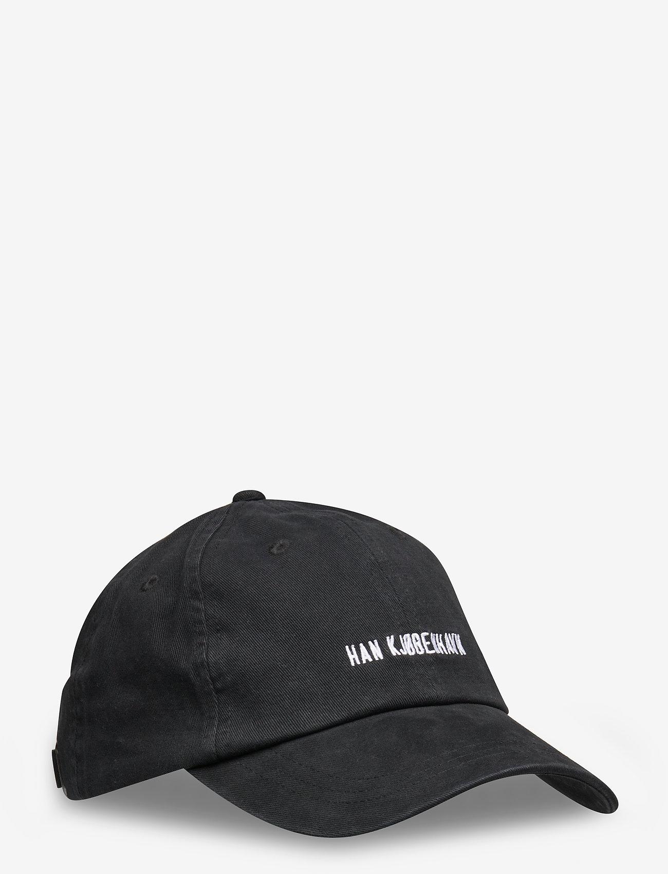 HAN Kjøbenhavn - Cotton Cap - petten - black logo - 0