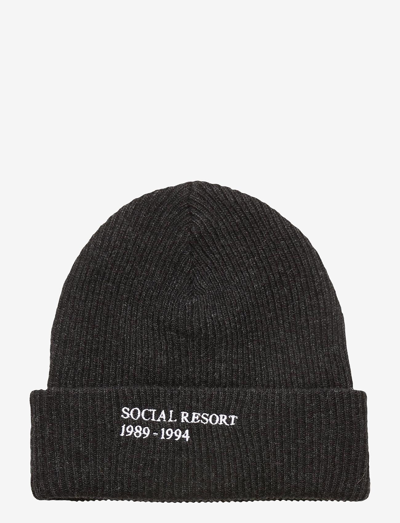 HAN Kjøbenhavn - Beanie - bonnets & casquettes - black melange - 0