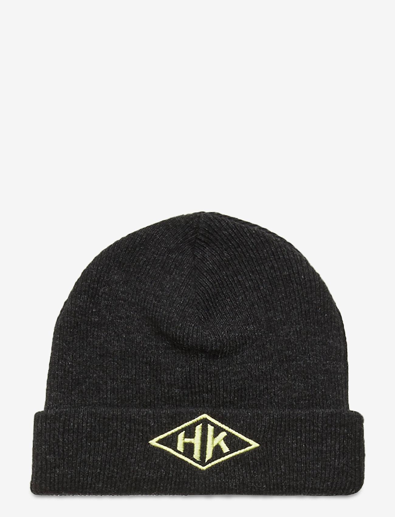 HAN Kjøbenhavn - Top Beanie - bonnets & casquettes - black melange - 1