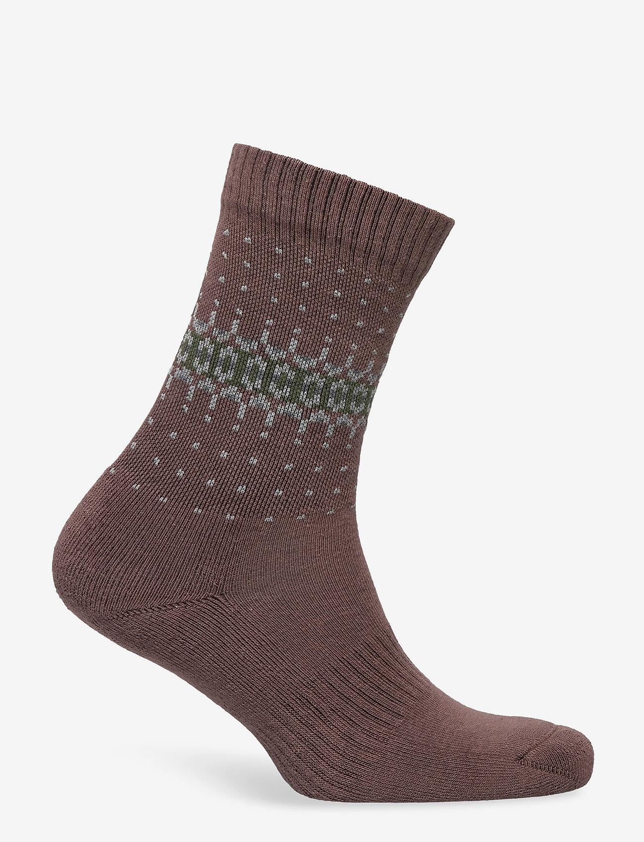 HAN Kjøbenhavn - Socks - enkelsokken - faded brown - 1