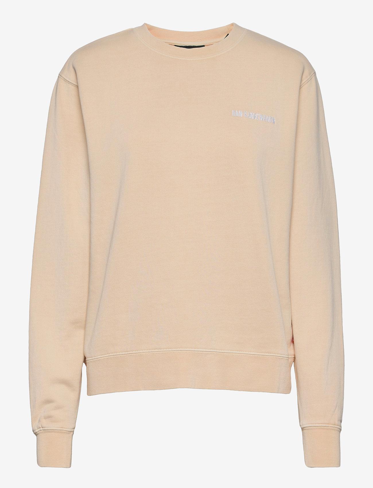 HAN Kjøbenhavn - Bulky Crew - sweatshirts - beige logo - 0