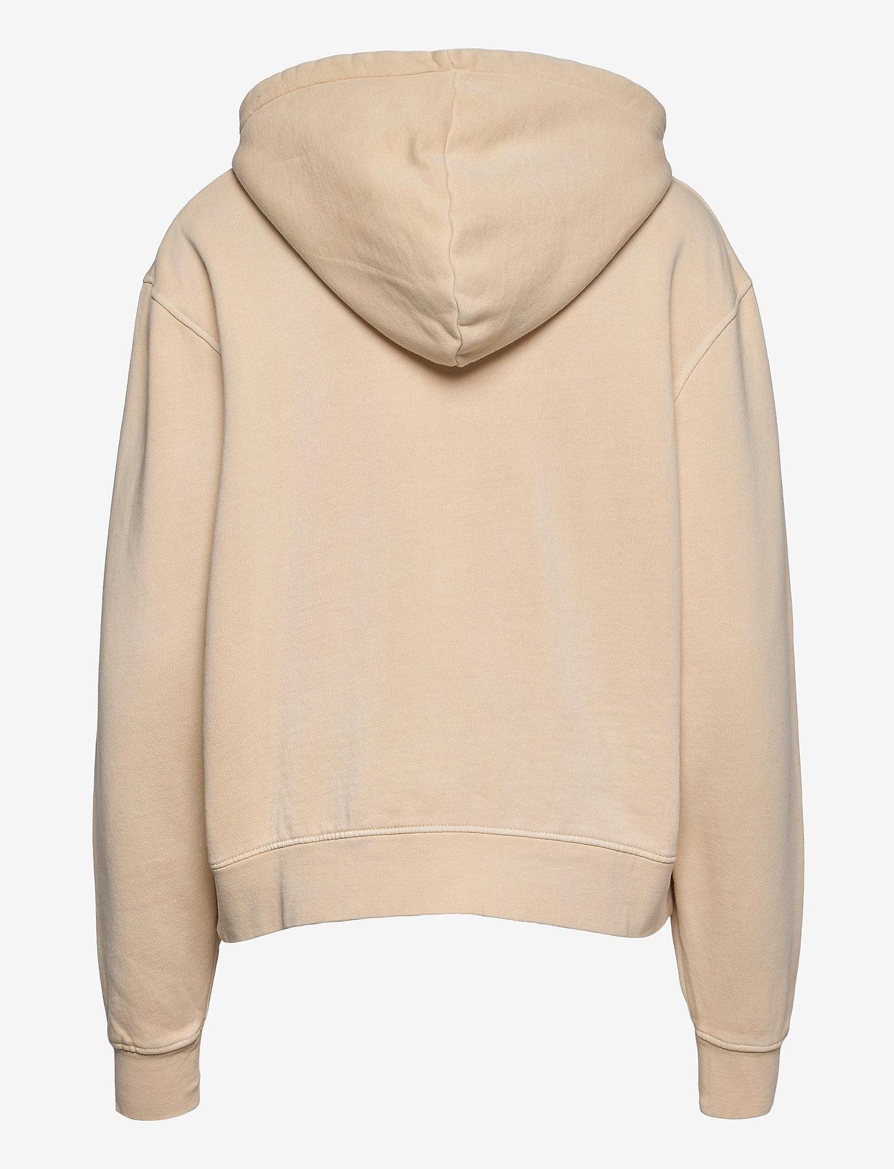HAN Kjøbenhavn - Bulky Hoodie - hoodies - beige logo - 1