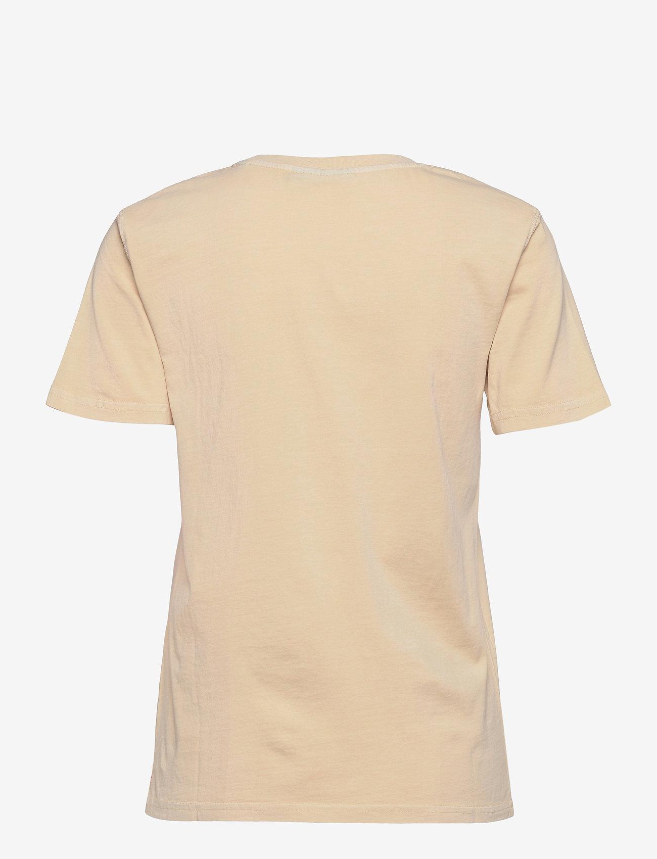 HAN Kjøbenhavn - Casual Tee - t-shirts - beige logo - 1