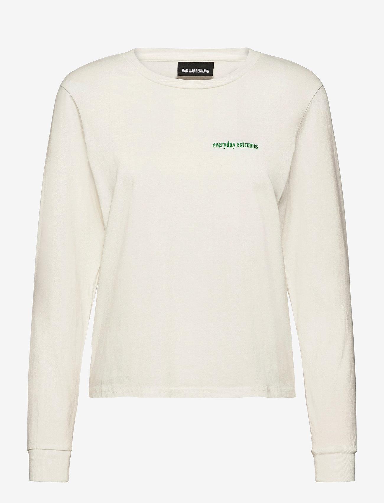 HAN Kjøbenhavn - Artwork Tee Long Sleeve - tops met lange mouwen - off white - 0