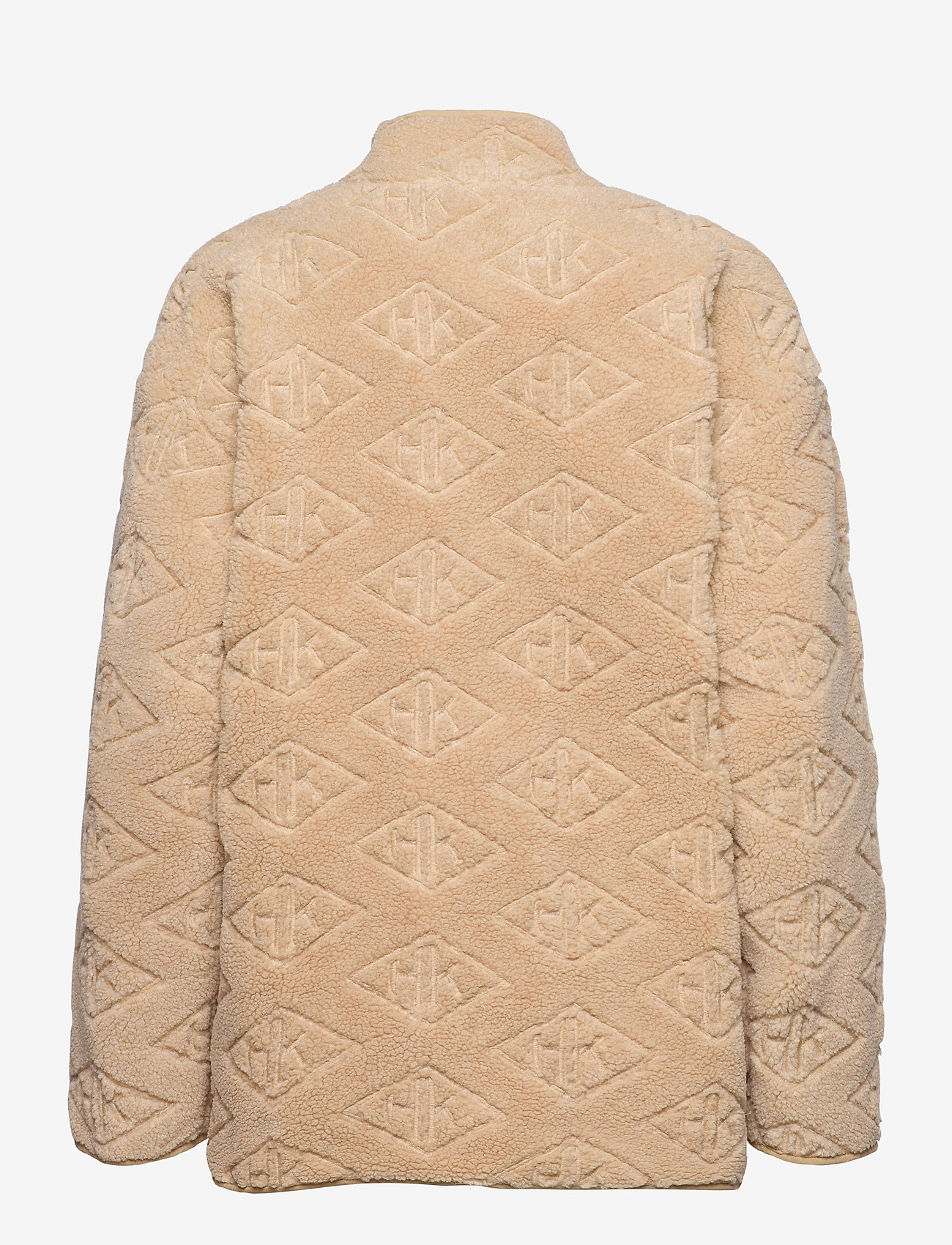 HAN Kjøbenhavn - Track Fleece - mid layer jackets - sand logo - 1