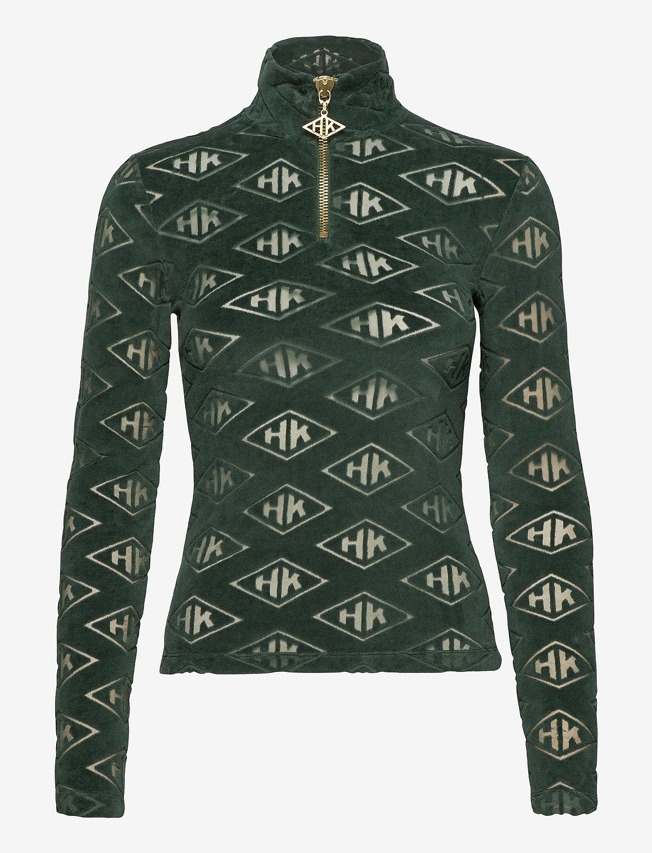 HAN Kjøbenhavn - Half Zip Long Sleeve - sweaters - green - 0