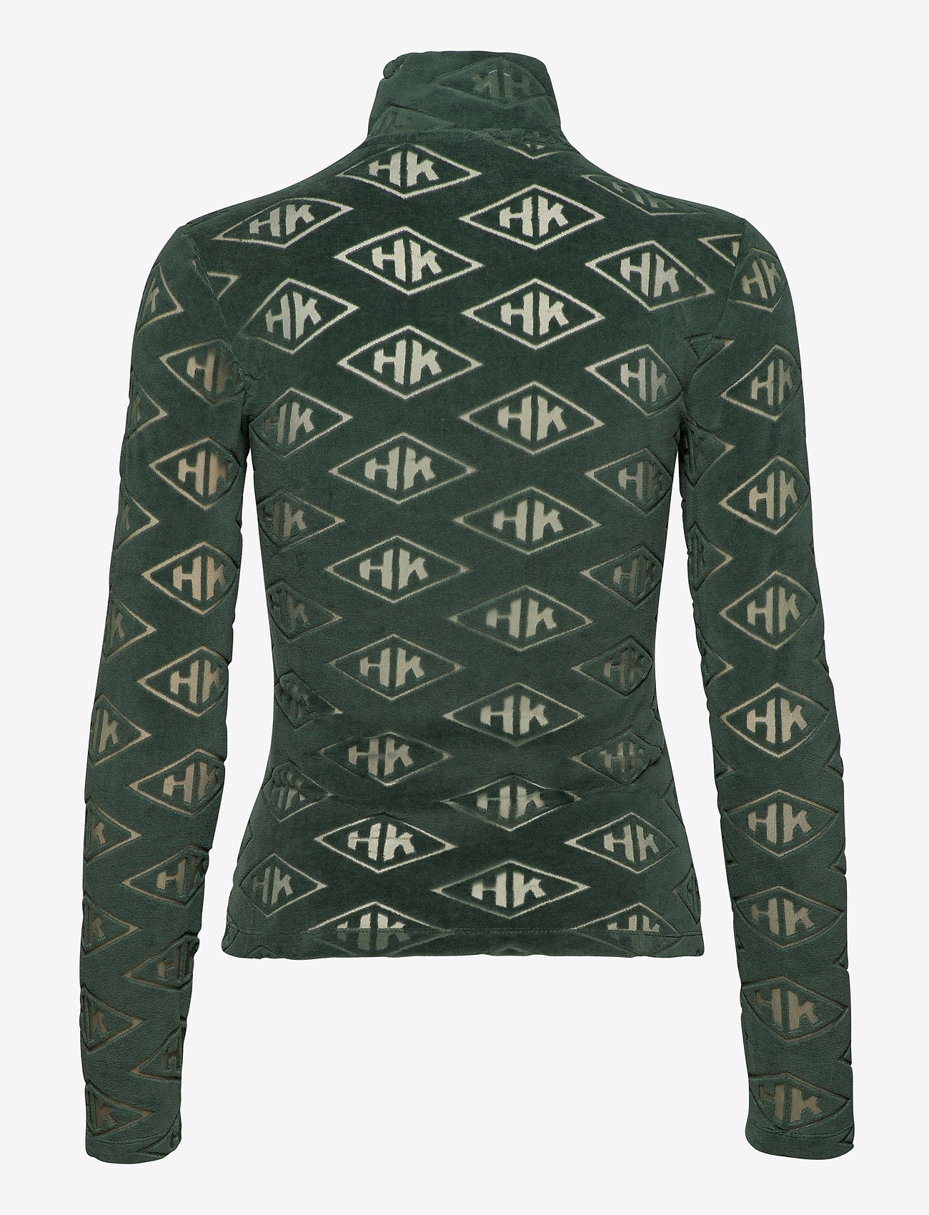 HAN Kjøbenhavn - Half Zip Long Sleeve - sweaters - green - 1
