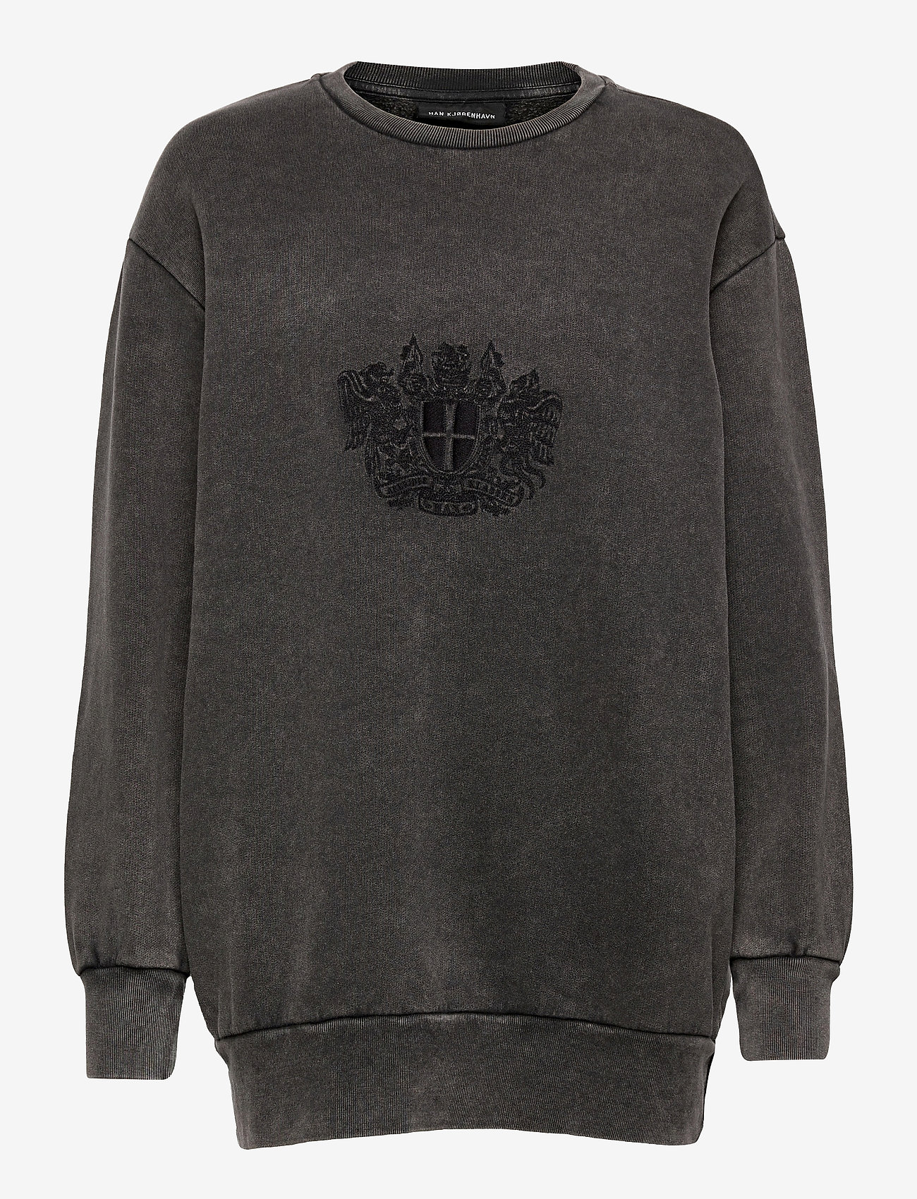 HAN Kjøbenhavn - Relaxed Crew - sweatshirts - faded dark grey - 0