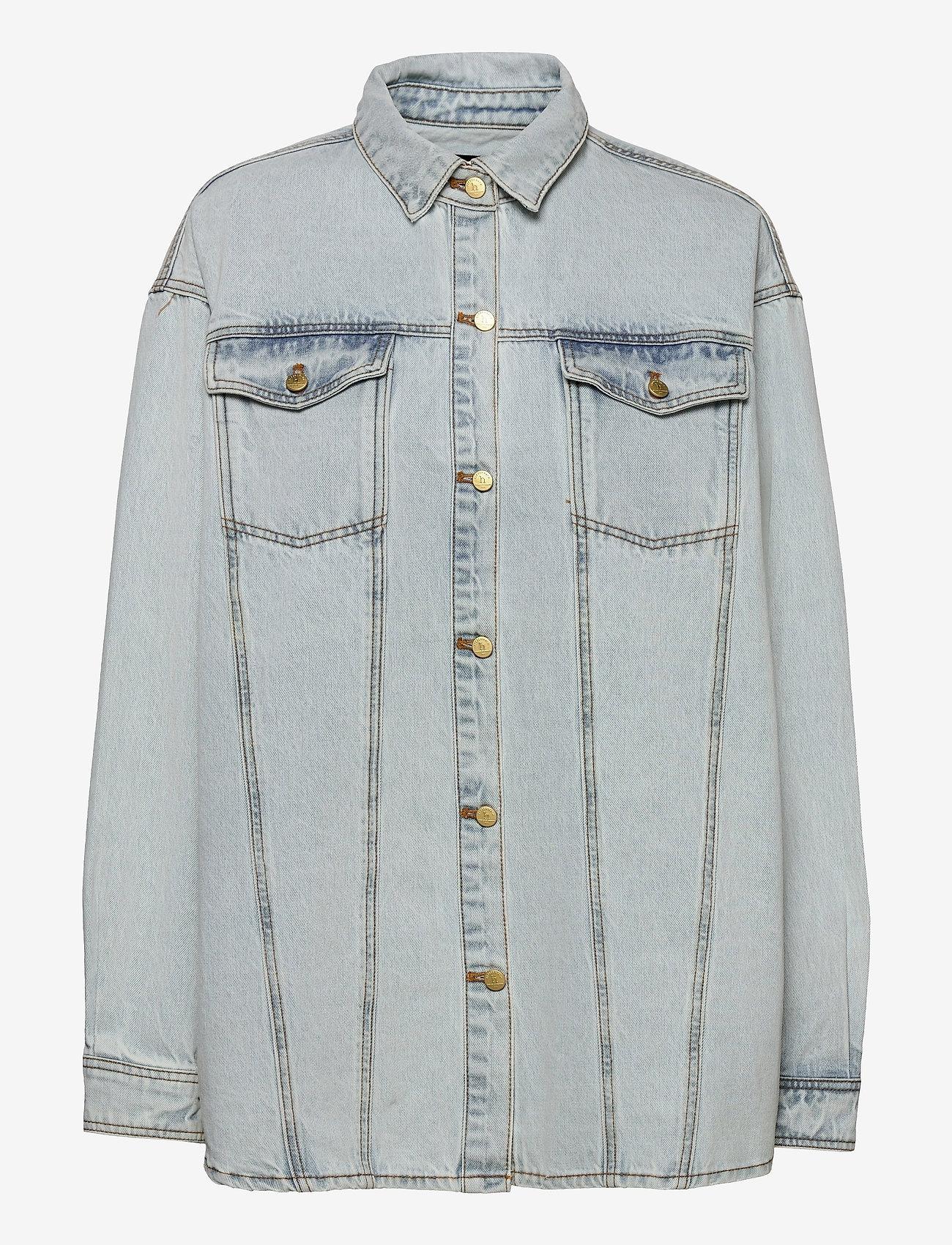 HAN Kjøbenhavn - Boyfriend Shirt - overshirts - light stone wash - 0