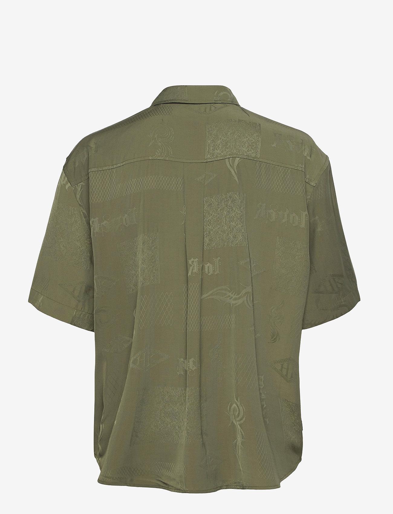 HAN Kjøbenhavn - Drop Shirt - kortärmade skjortor - green tribal - 1