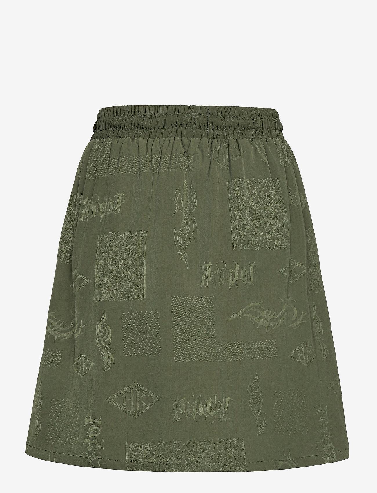 HAN Kjøbenhavn - Track Skirt - korta kjolar - green tribal - 1