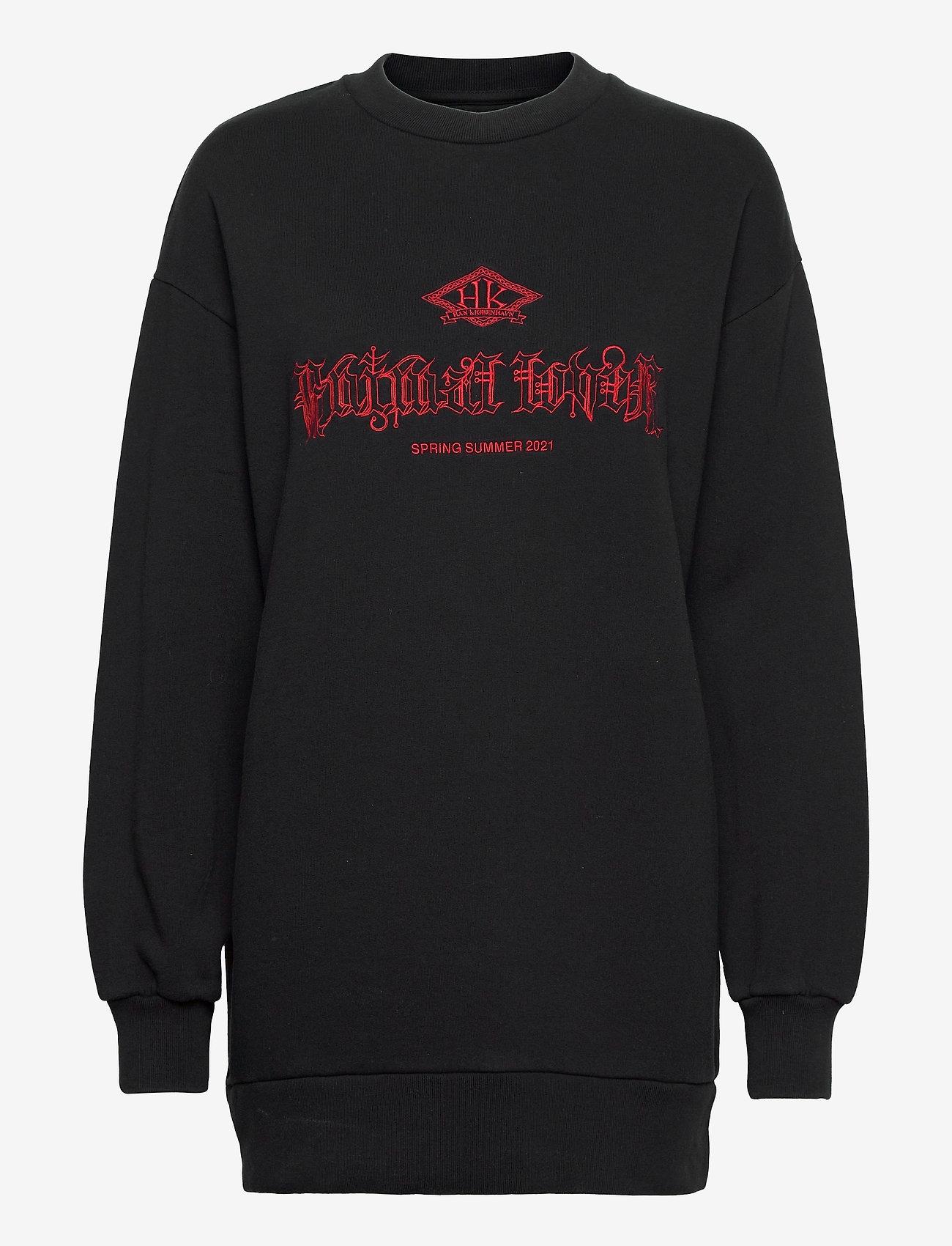 HAN Kjøbenhavn - Relaxed Crew - sweatshirts - faded black - 0