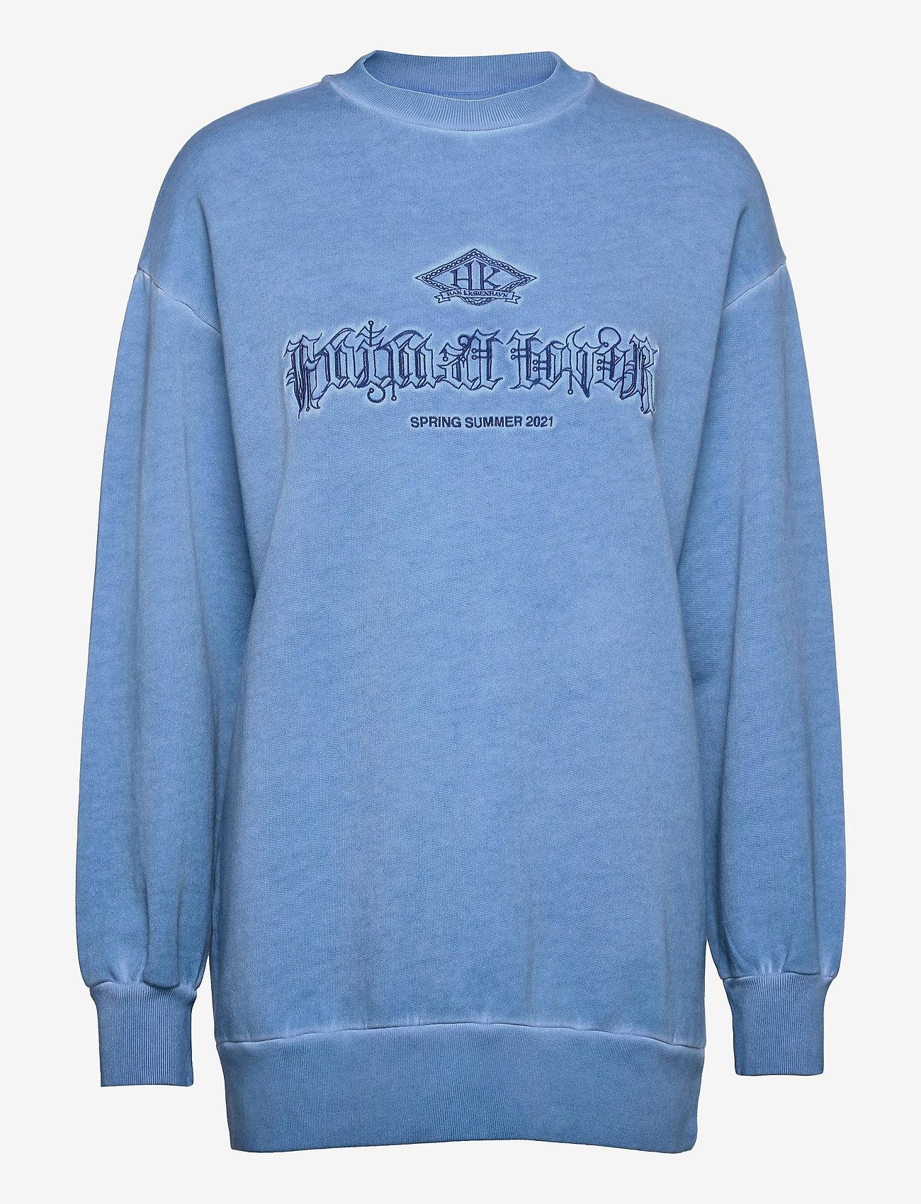 HAN Kjøbenhavn - Relaxed Crew - sweatshirts - faded blue - 0