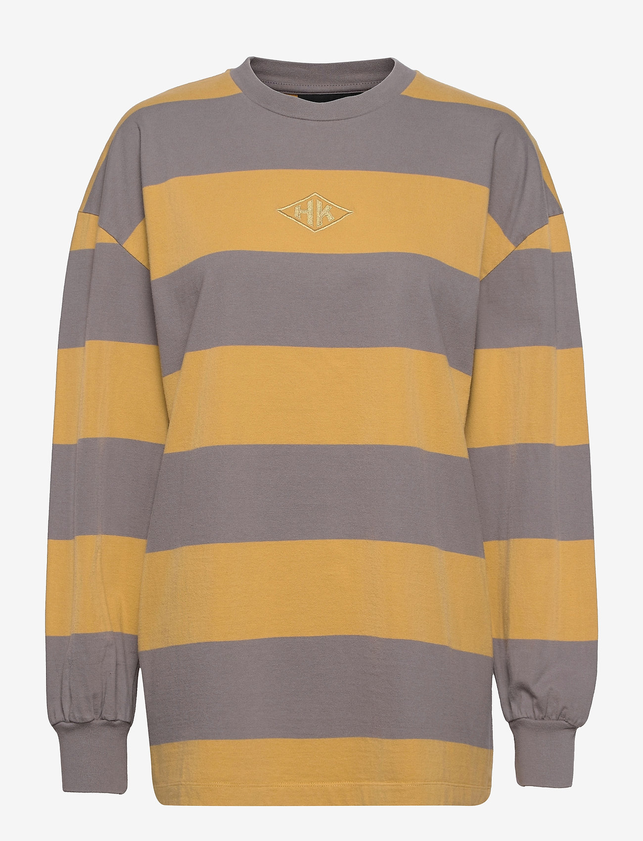 HAN Kjøbenhavn - Boxy LS Tee - sweatshirts - faded tan stripe - 0