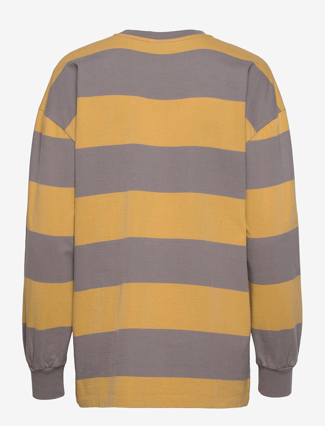 HAN Kjøbenhavn - Boxy LS Tee - sweatshirts - faded tan stripe - 1
