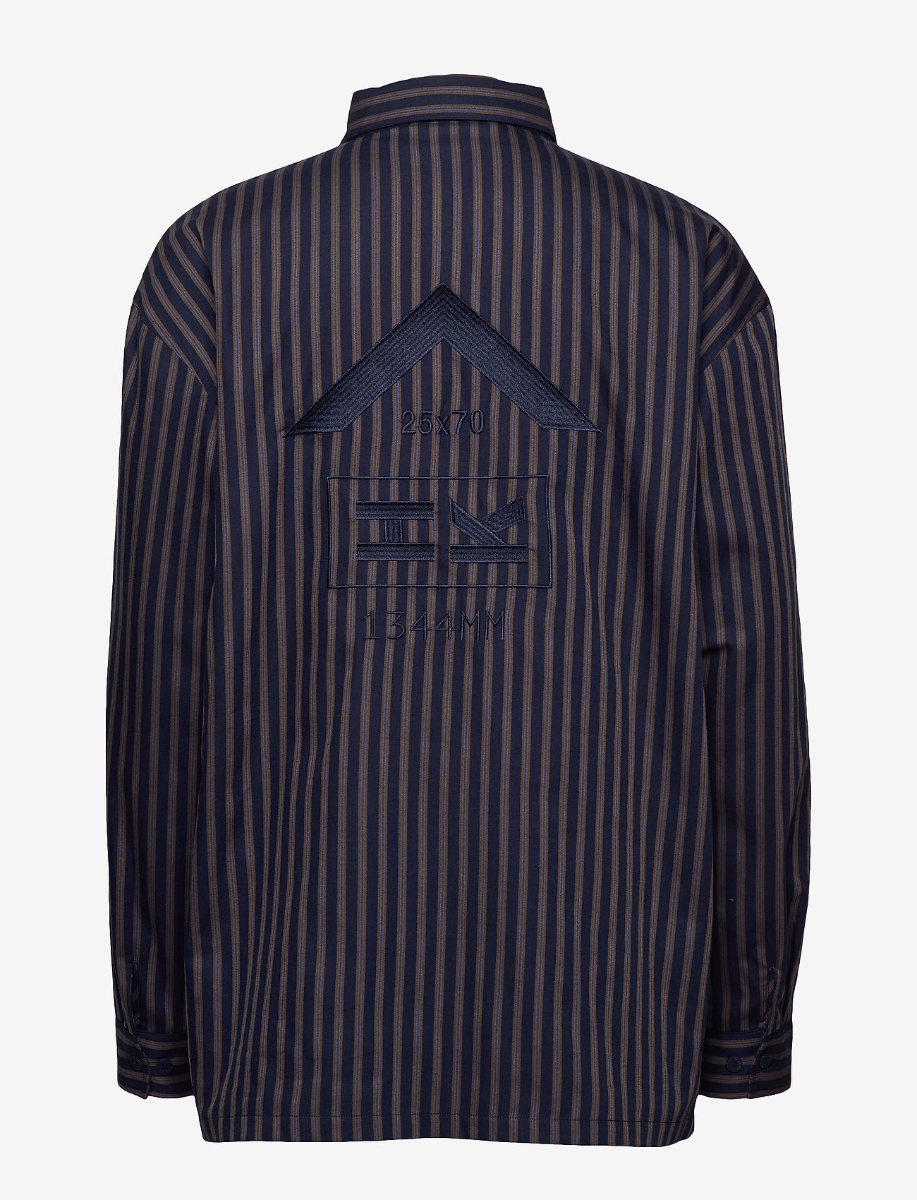 HAN Kjøbenhavn - Shirt Jacket - tops - navy stripe - 1