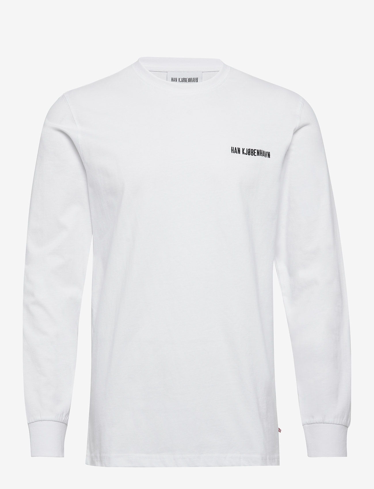 HAN Kjøbenhavn - Casual Long Sleeve Tee - basic t-shirts - white logo - 0
