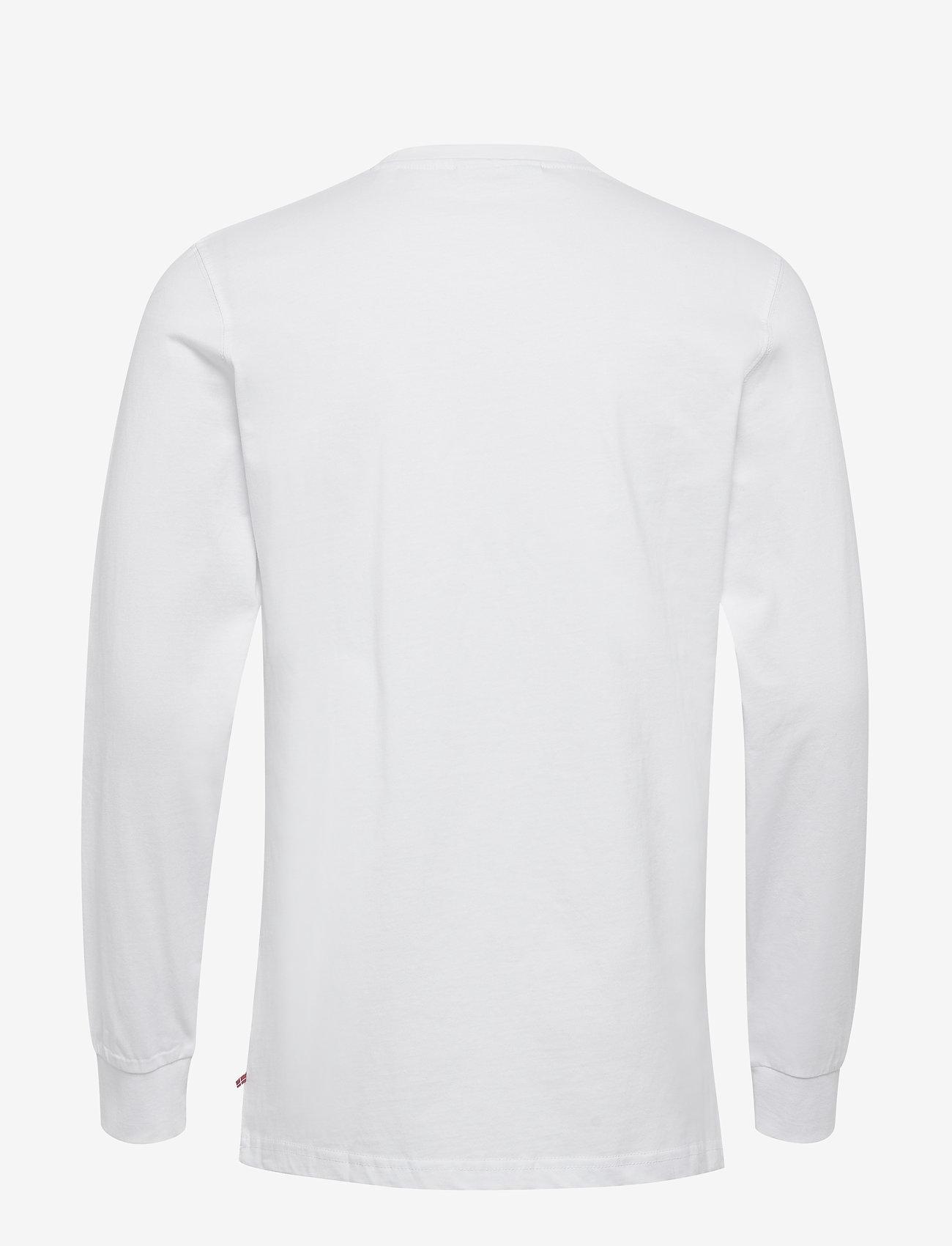 HAN Kjøbenhavn - Casual Long Sleeve Tee - basic t-shirts - white logo - 1