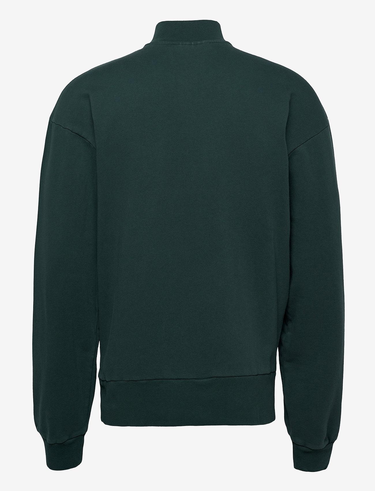 HAN Kjøbenhavn Half Zip Sweat - Sweatshirts FADED GREEN - Menn Klær