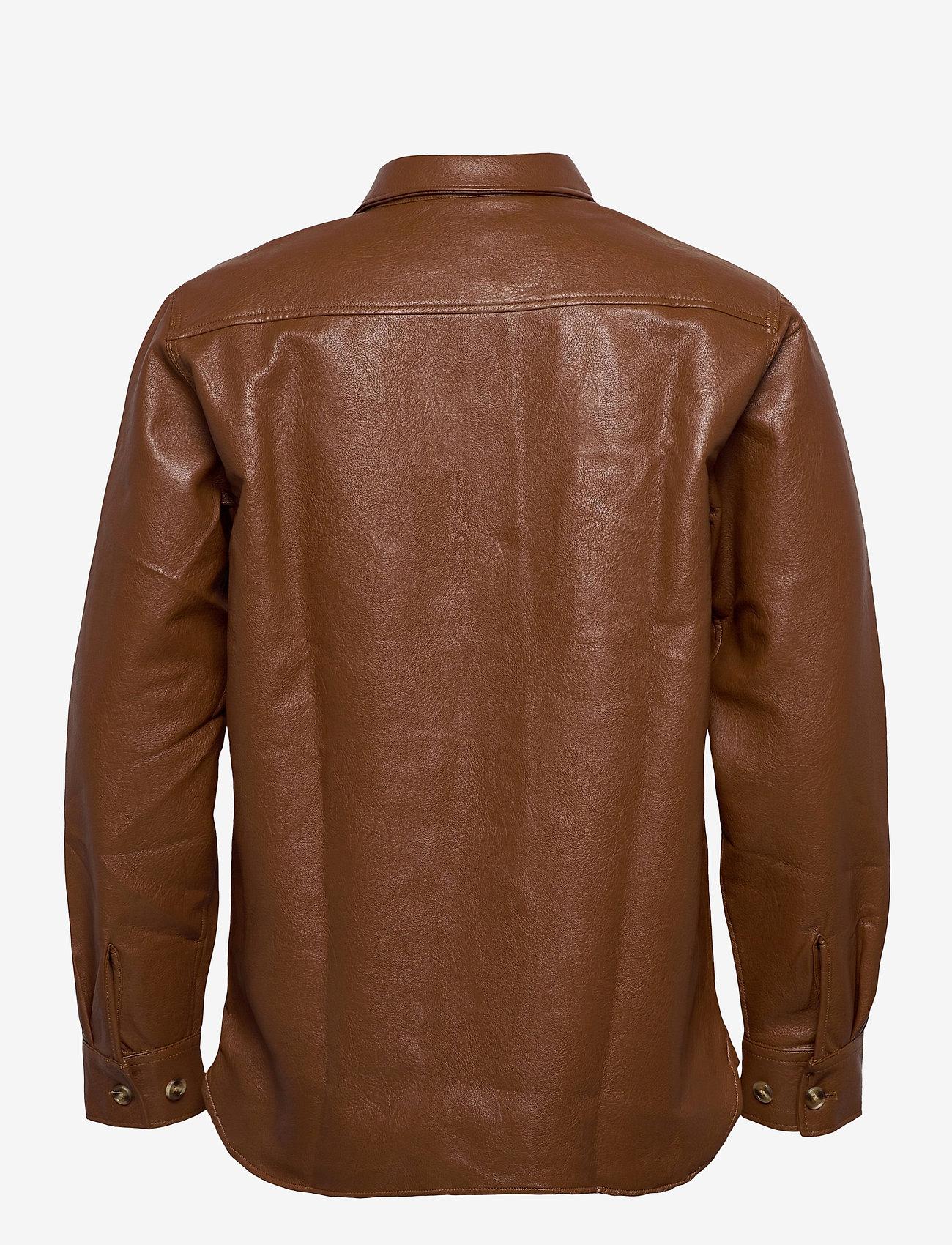 HAN Kjøbenhavn - Army Shirt - tops - brown faux leather - 2