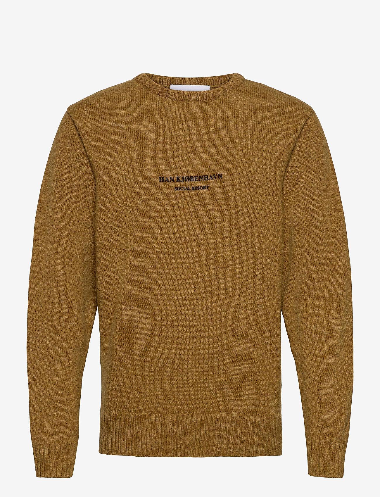 HAN Kjøbenhavn - Bulky Knit Mustard - basic gebreide truien - mustard - 0