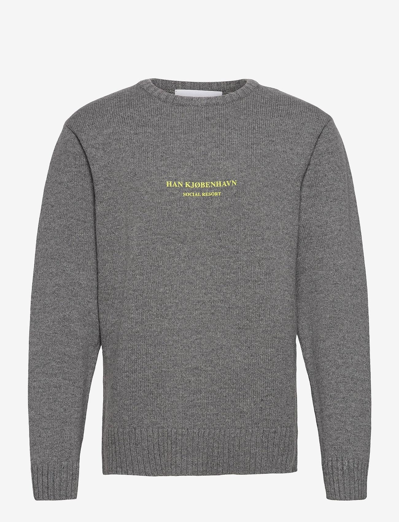 HAN Kjøbenhavn - Bulky Knit Grey - basic gebreide truien - grey melange - 0