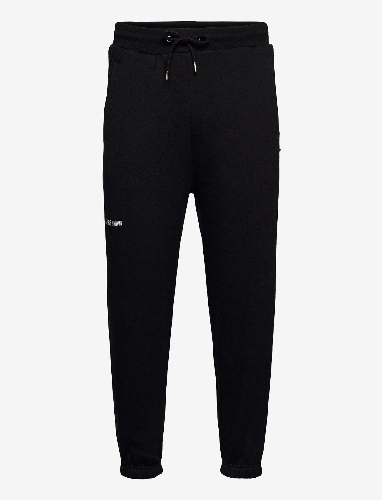 HAN Kjøbenhavn - Sweat Pants - kleding - black logo - 0