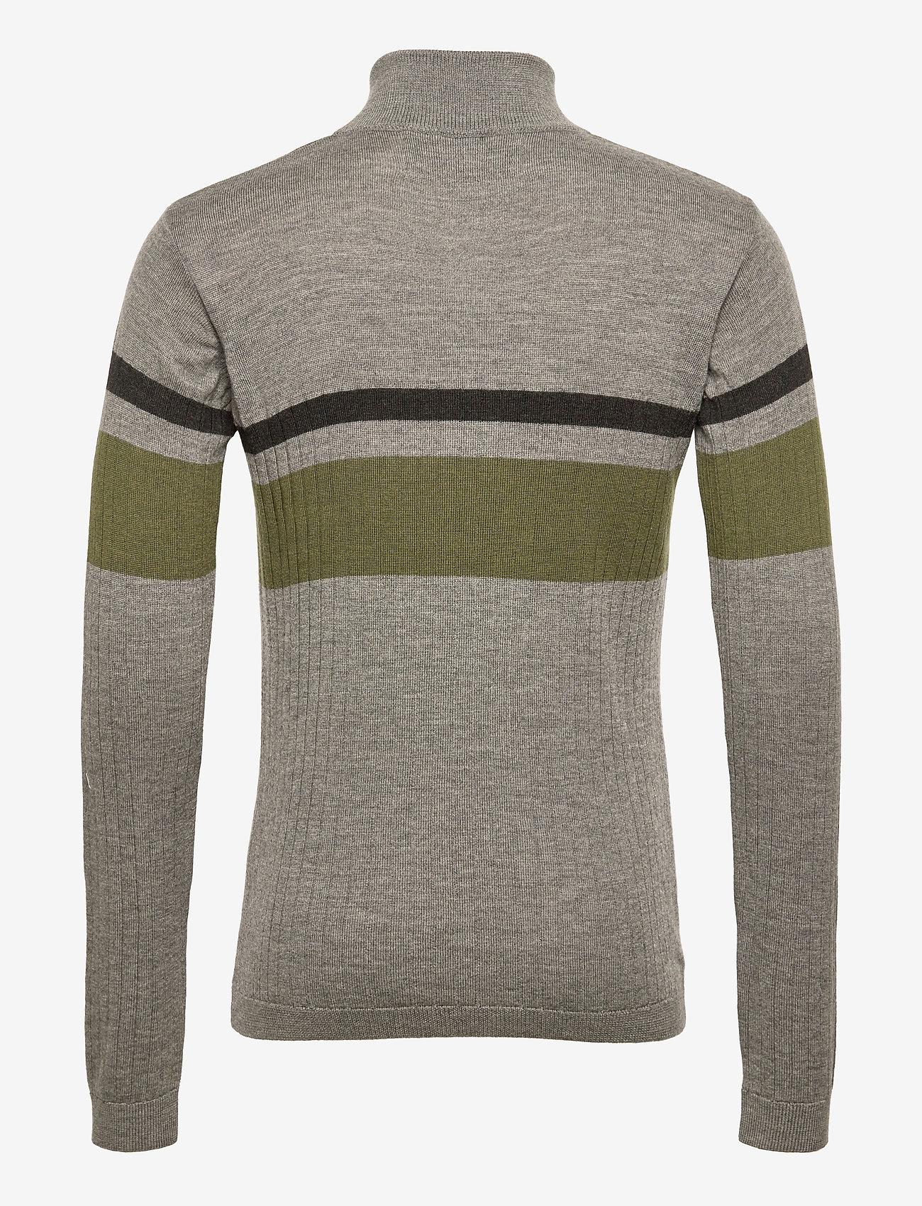 HAN Kjøbenhavn - Half Zip Long Sleeve - truien met halve rits - grey - 1