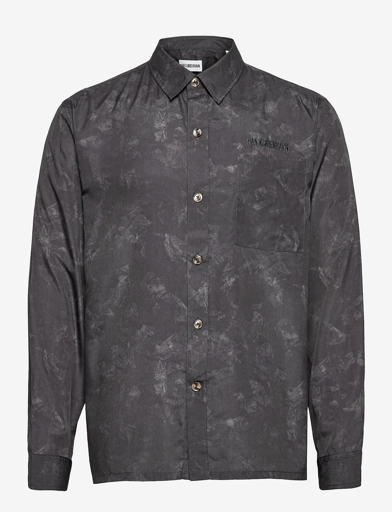 HAN Kjøbenhavn - Boxy Shirt - casual overhemden - black - 0