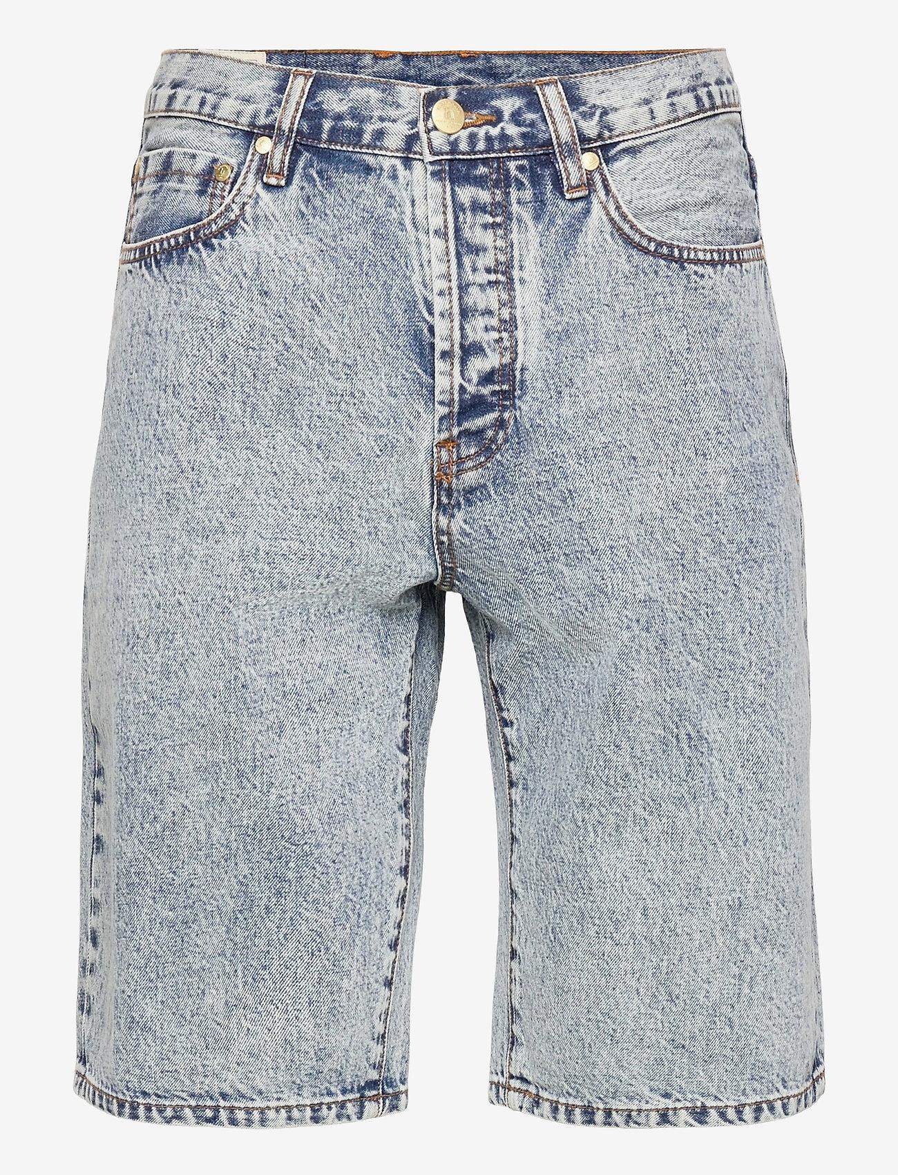 HAN Kjøbenhavn - Work Shorts - denim shorts - bleached denim - 0