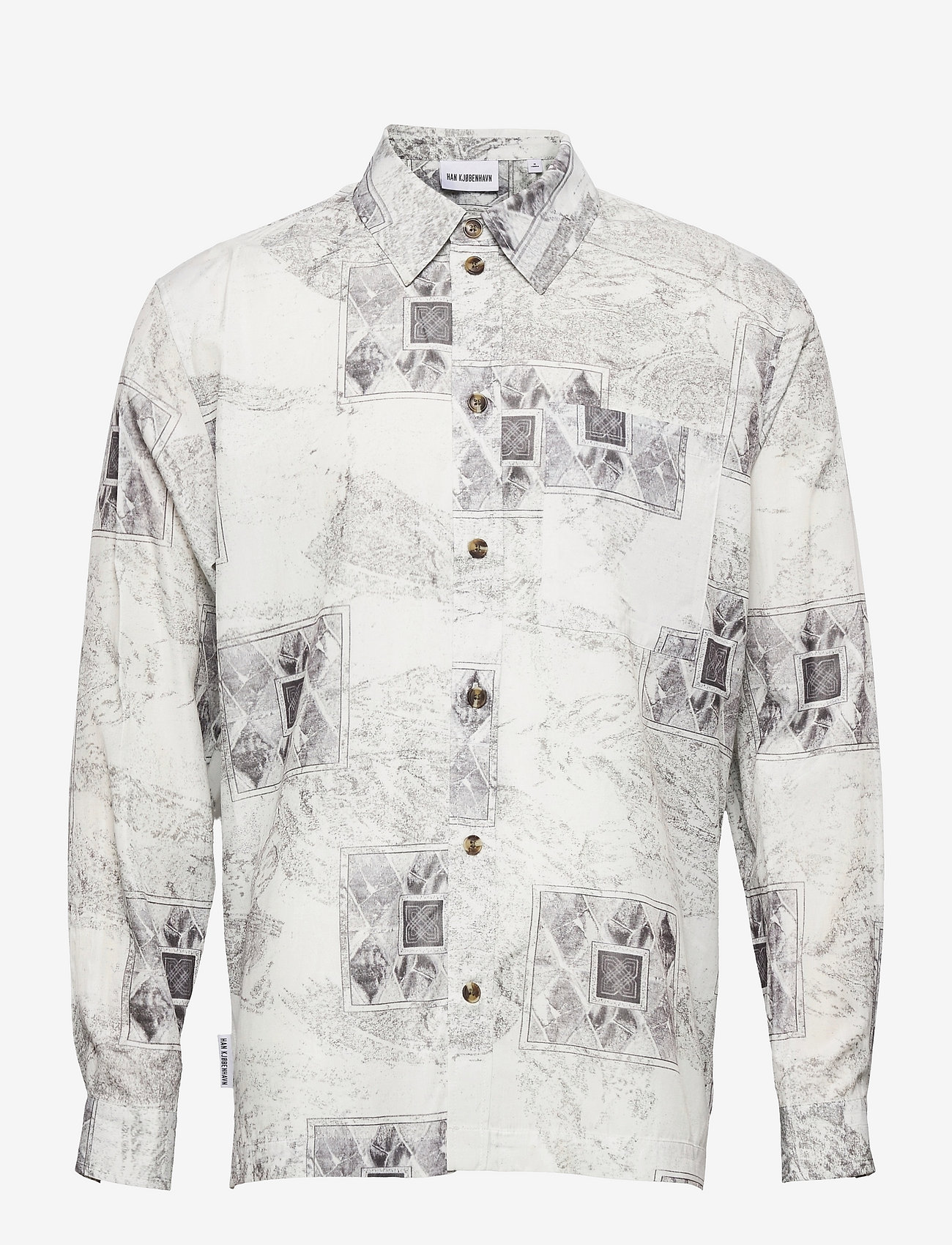 HAN Kjøbenhavn - Boxy Shirt Long Sleeve - casual overhemden - bleach diamond - 0