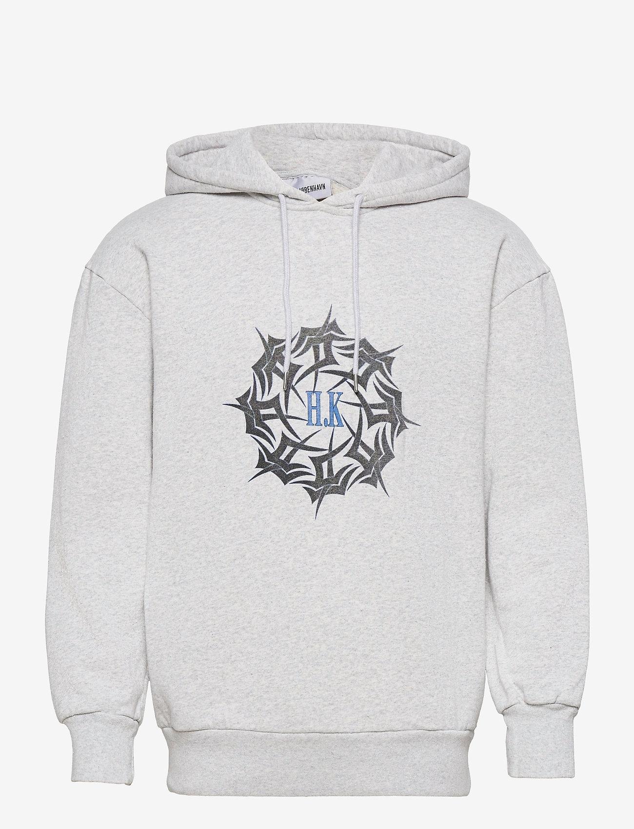 HAN Kjøbenhavn - Artwork Hoodie - hoodies - grey melange - 0