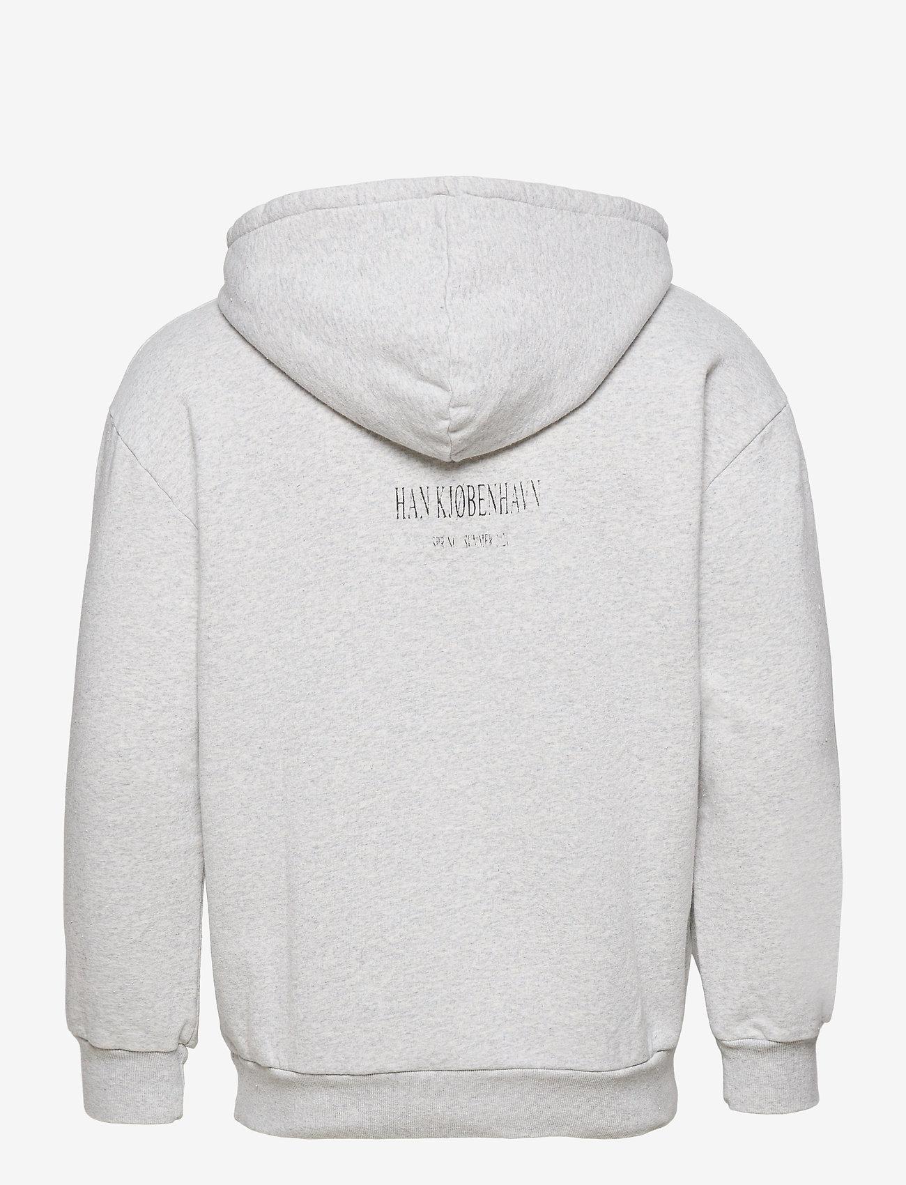 HAN Kjøbenhavn - Artwork Hoodie - hoodies - grey melange - 1