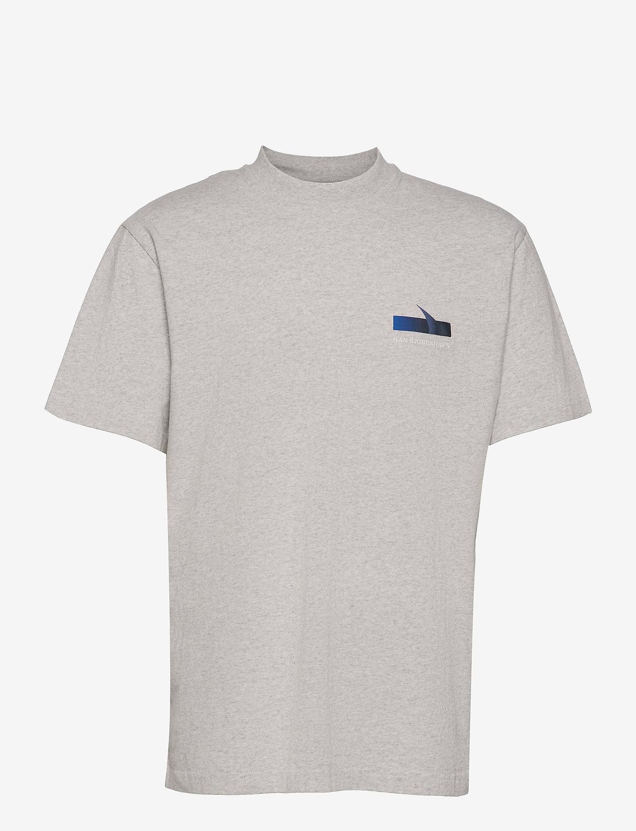 HAN Kjøbenhavn - Boxy SS Tee - basic t-shirts - grey melange - 0
