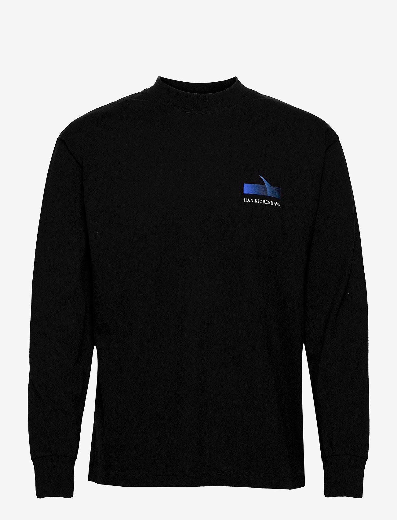 HAN Kjøbenhavn - Boxy LS Tee - basic t-shirts - faded black - 1