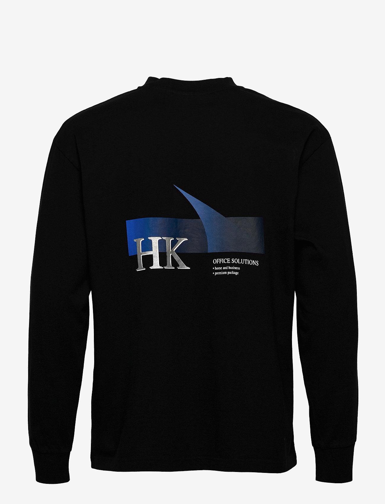 HAN Kjøbenhavn - Boxy LS Tee - basic t-shirts - faded black - 2