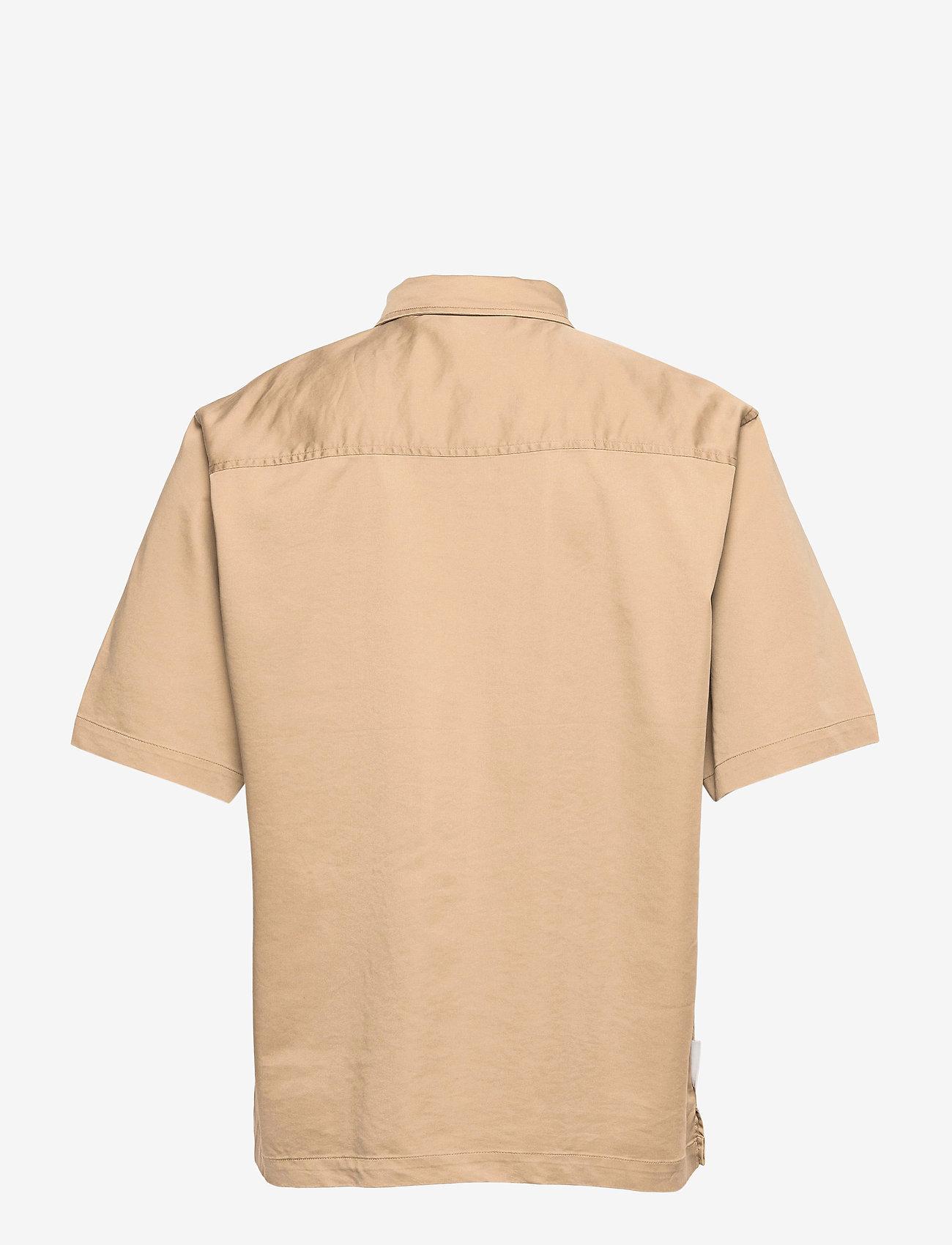 HAN Kjøbenhavn - Boxy Shirt SS - oxford overhemden - olive grey - 2