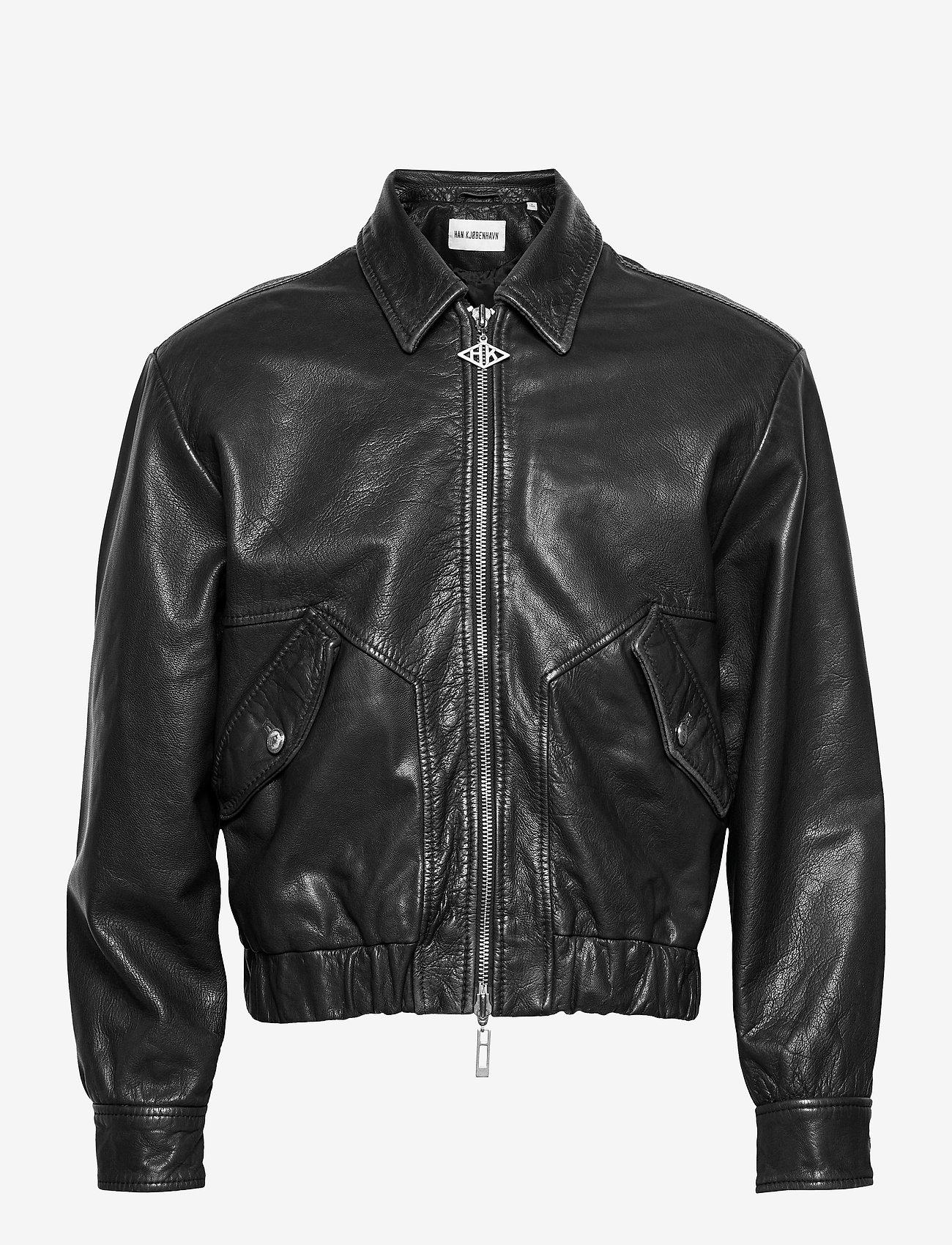 HAN Kjøbenhavn - Bomber Jacket - leren jassen - black leather - 1