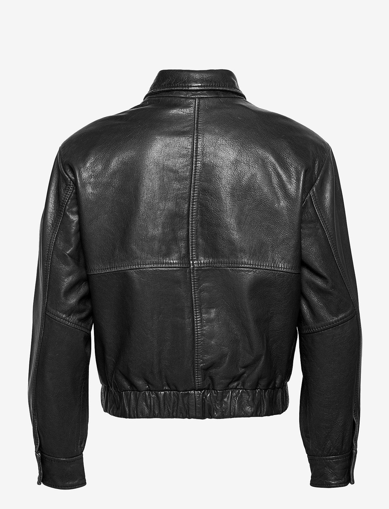 HAN Kjøbenhavn - Bomber Jacket - leren jassen - black leather - 2