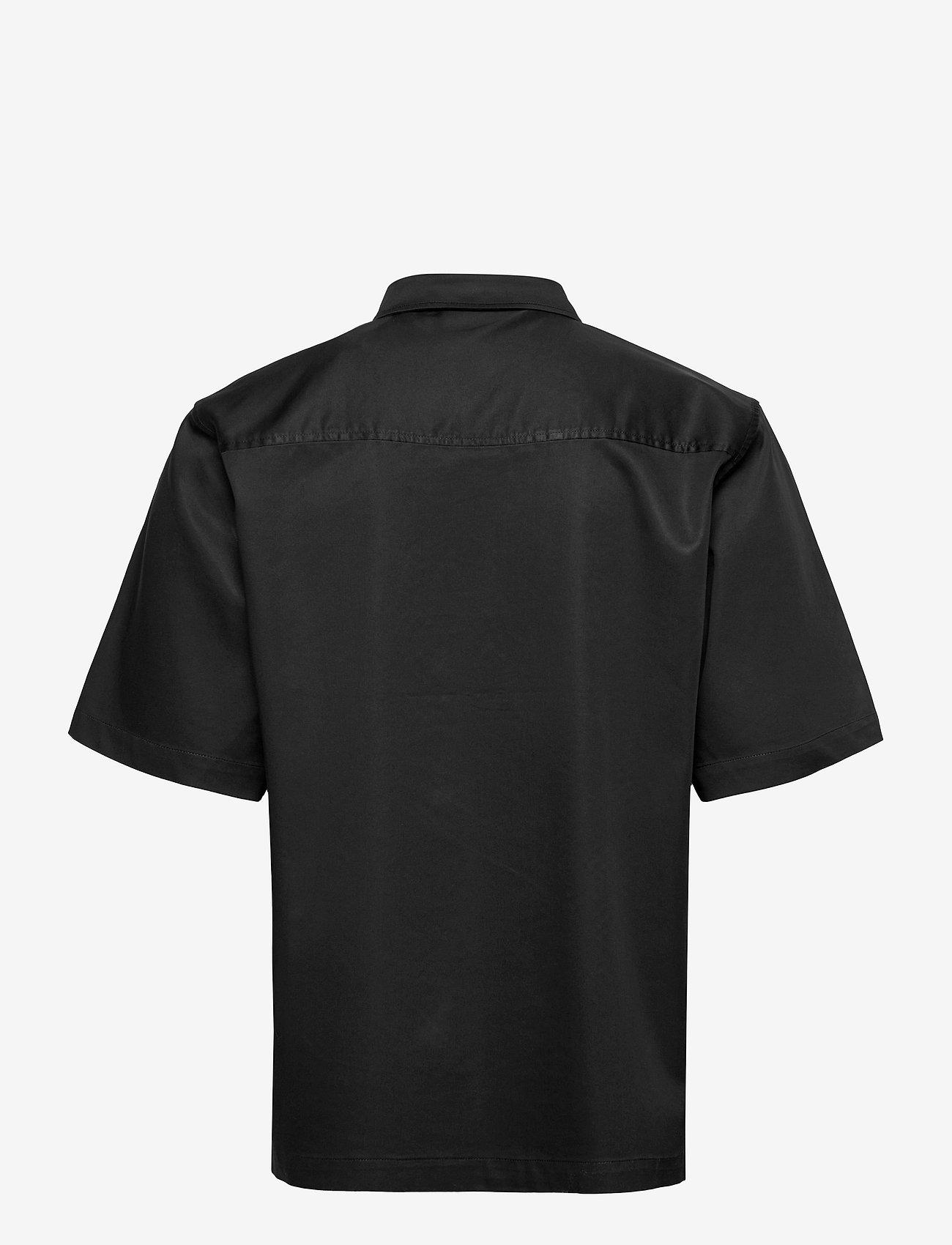 HAN Kjøbenhavn - Boxy Shirt SS - oxford overhemden - black - 2
