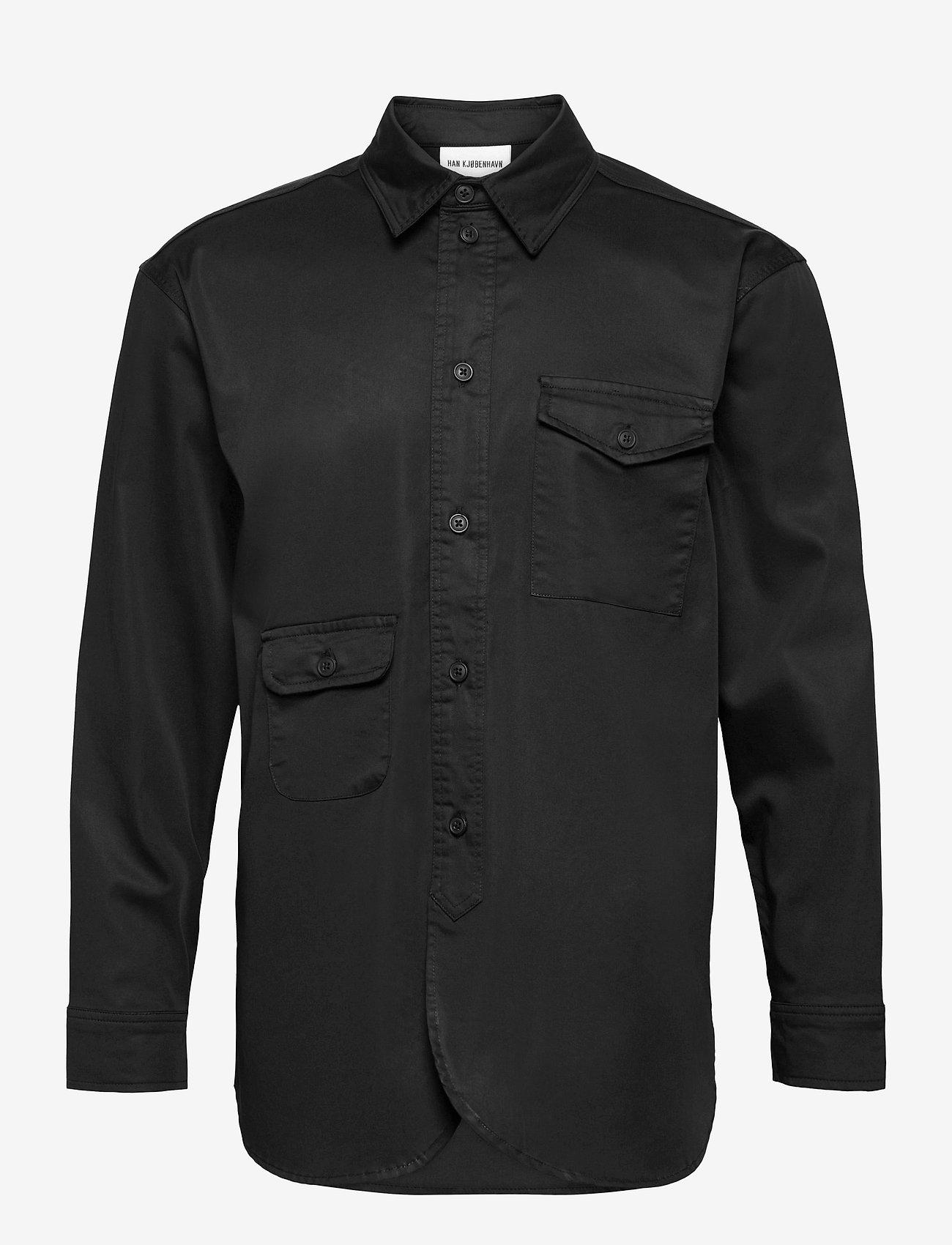HAN Kjøbenhavn - Army Shirt - oxford overhemden - black - 1