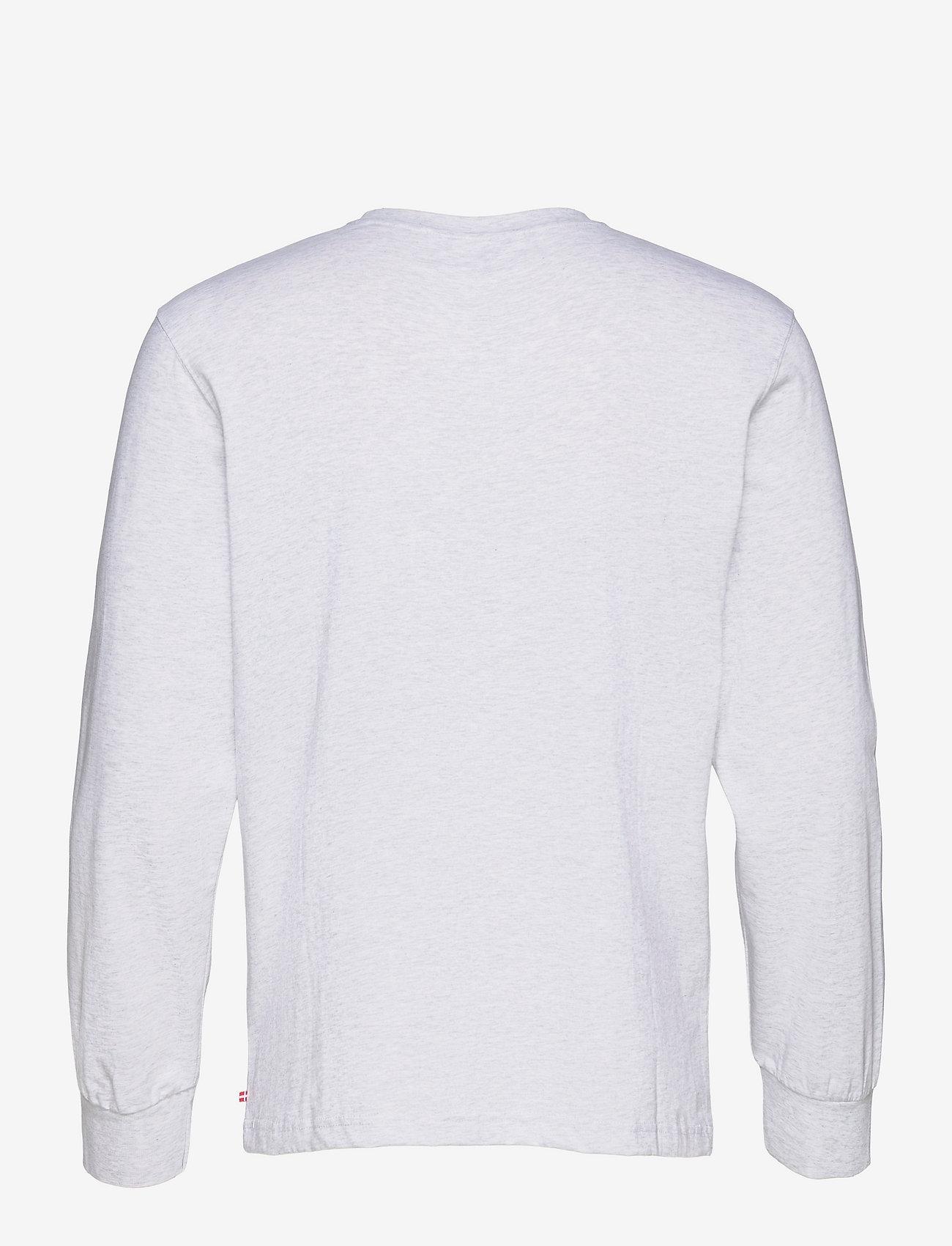 HAN Kjøbenhavn - Casual Tee Long Sleeve - basic t-shirts - light grey melange logo - 1
