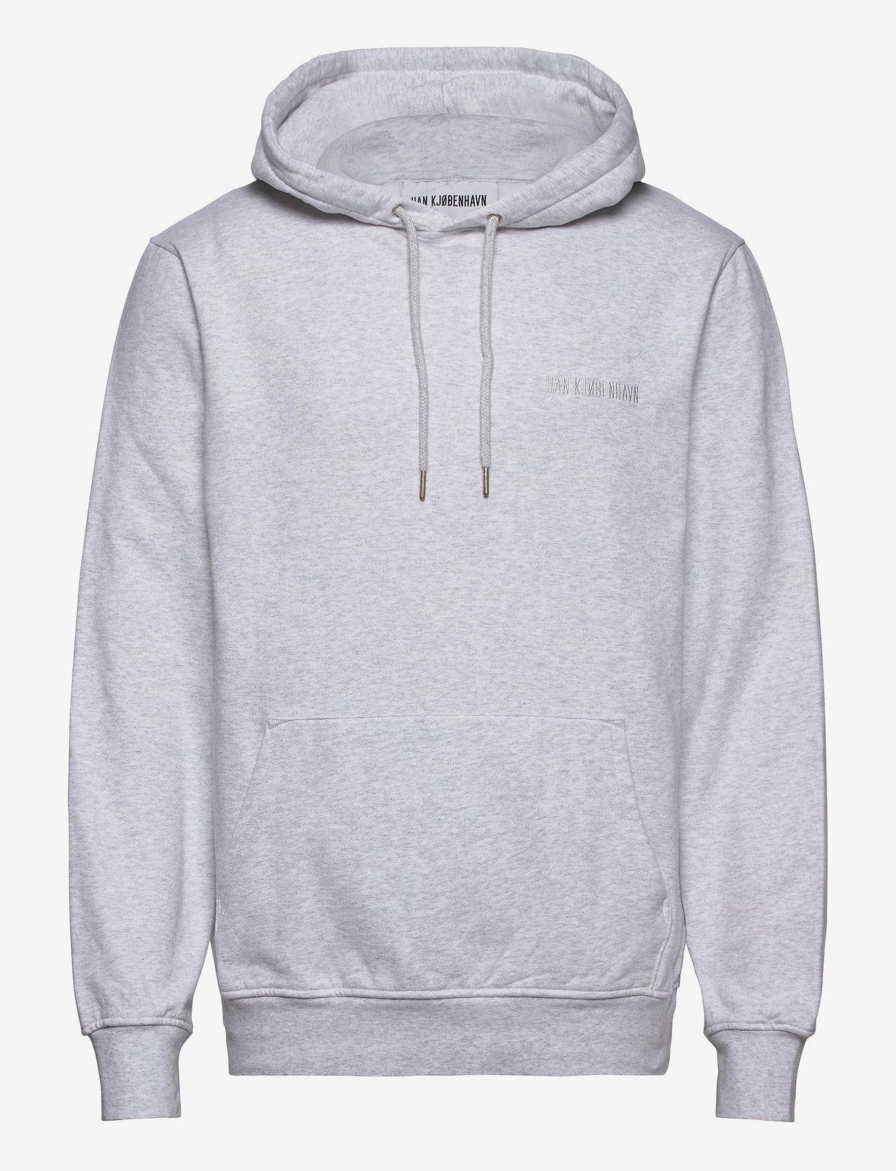 HAN Kjøbenhavn - Casual Hoodie - hoodies - light grey melange logo - 0