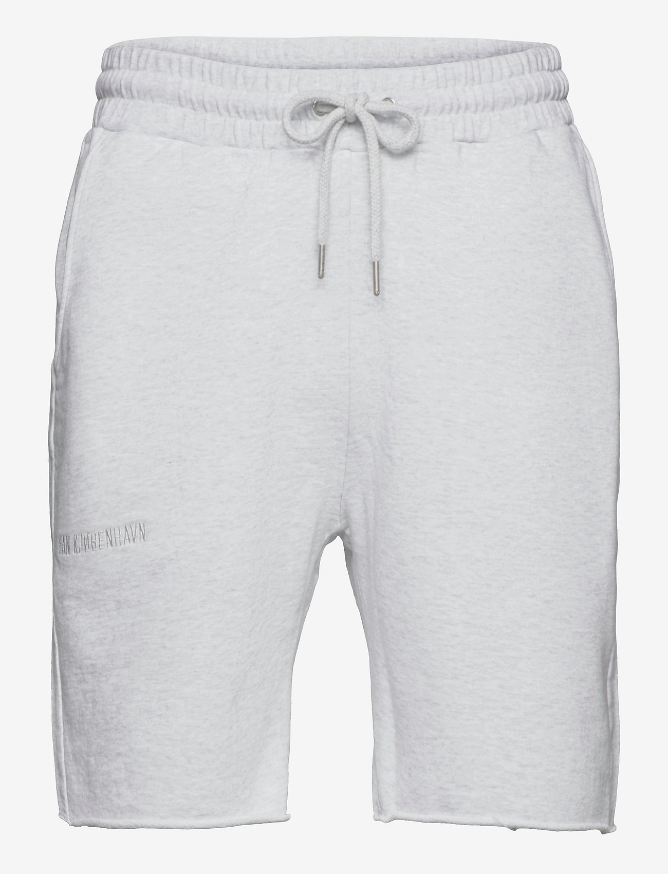 HAN Kjøbenhavn - Sweat shorts - casual shorts - light grey melange logo - 0