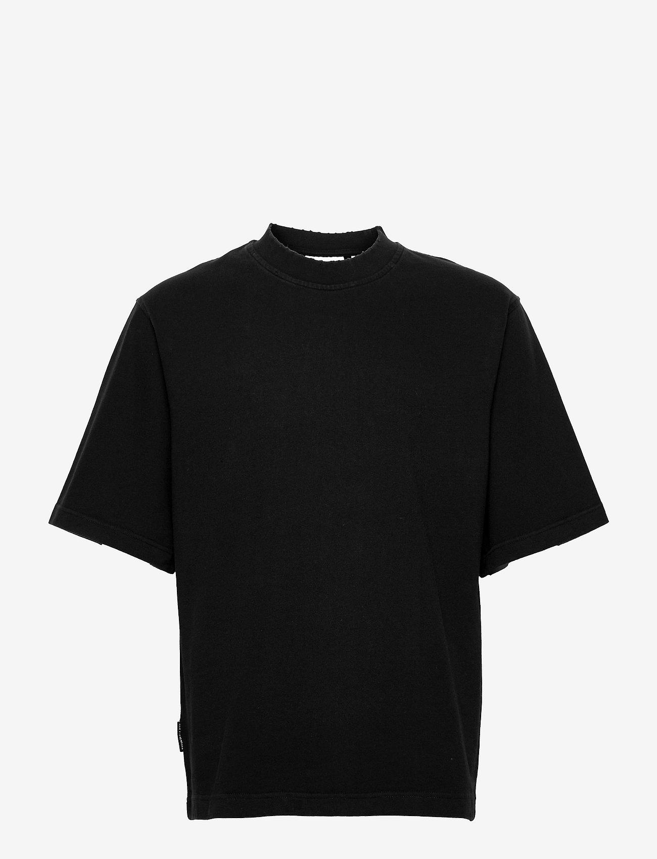 HAN Kjøbenhavn - Distressed Tee Short Sleeve - basic t-shirts - distressed black - 0