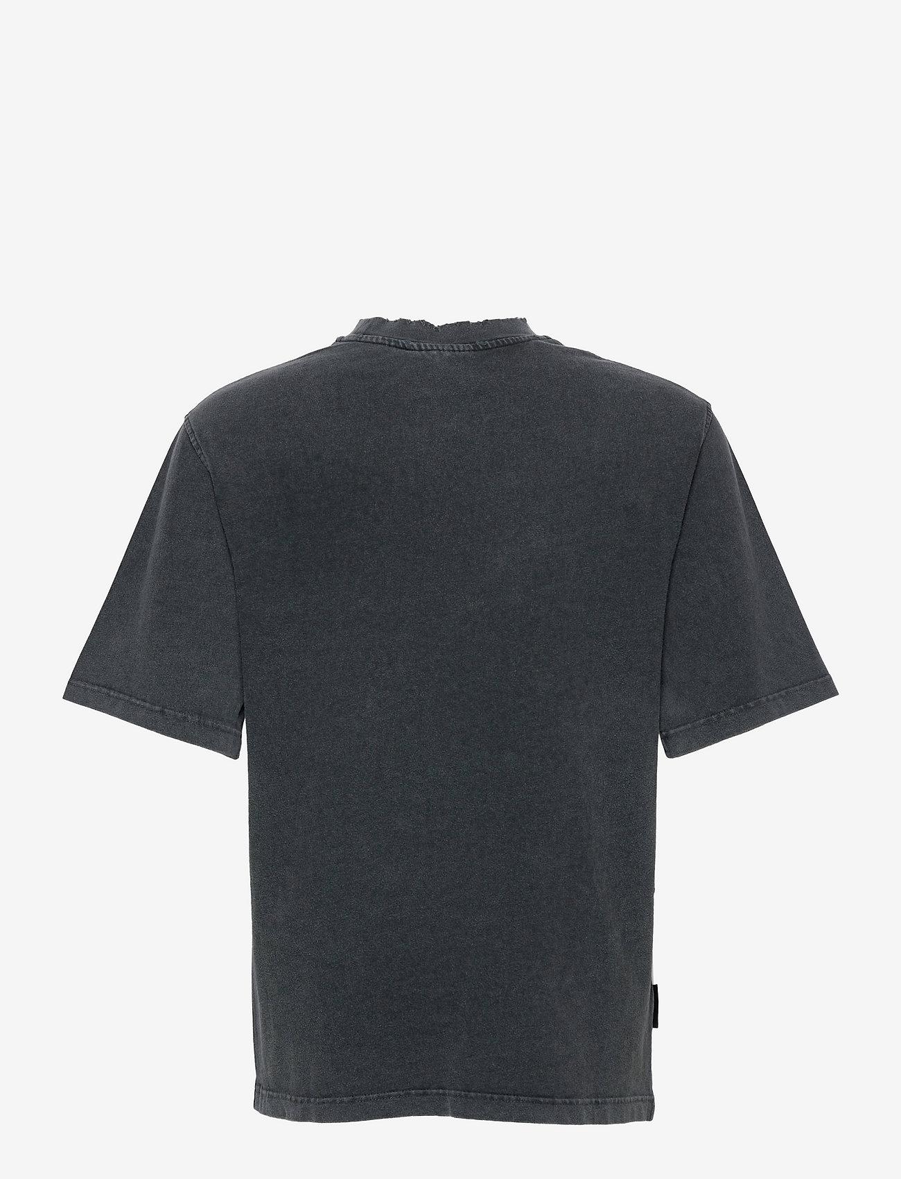 HAN Kjøbenhavn - Distressed Tee Short Sleeve - basic t-shirts - distressed dark grey - 1