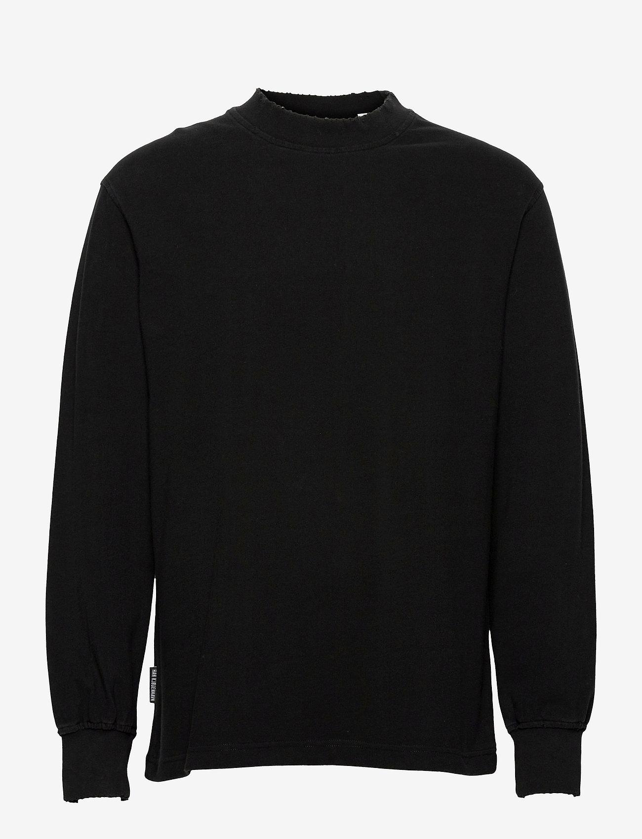 HAN Kjøbenhavn - Distressed Tee Long Sleeve - basic t-shirts - distressed black - 0