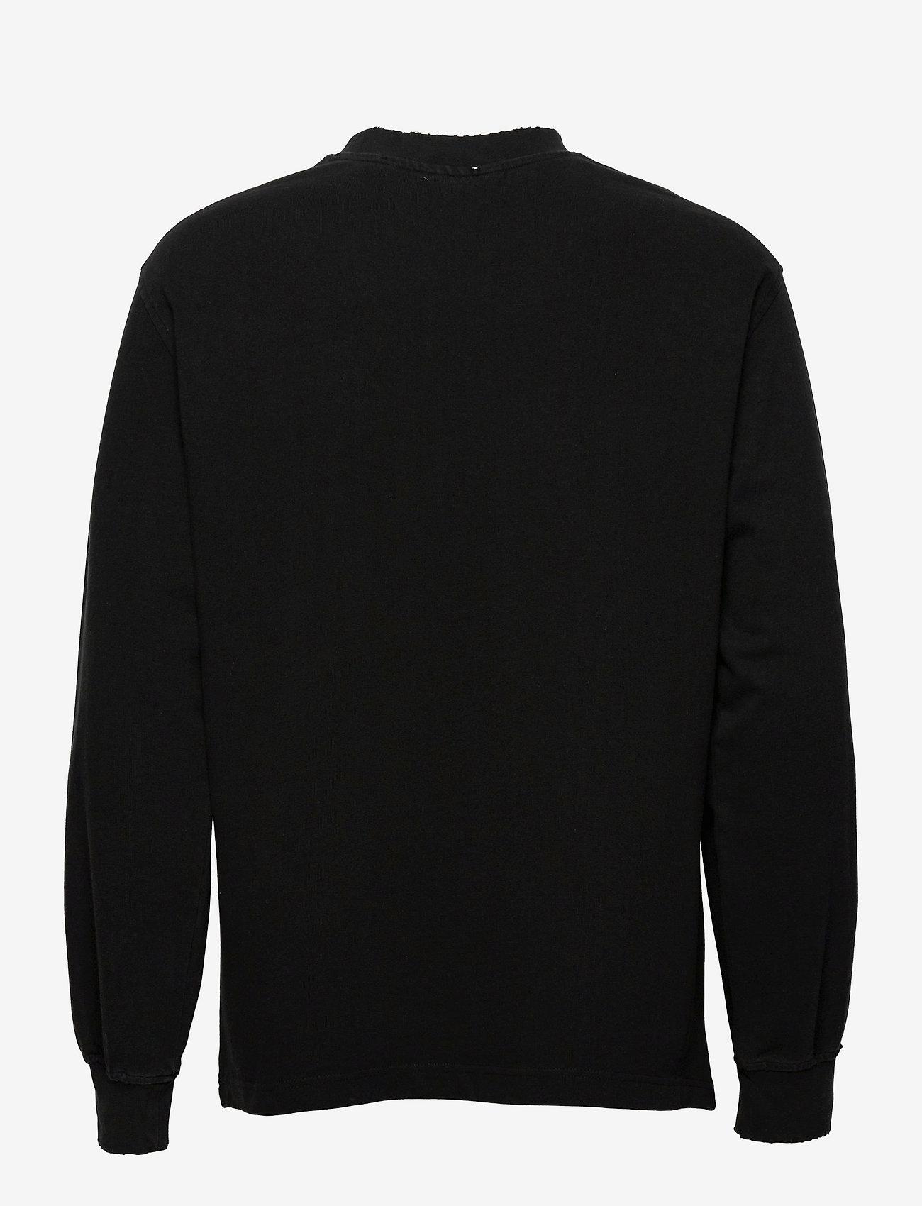 HAN Kjøbenhavn - Distressed Tee Long Sleeve - basic t-shirts - distressed black - 1